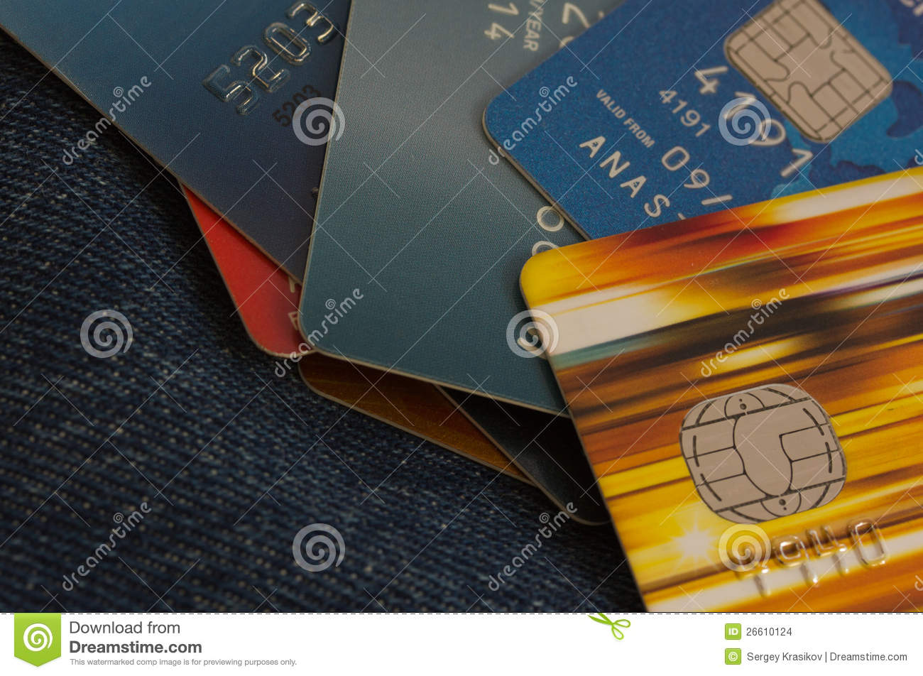 credit cards on jeans background stock photo  image of