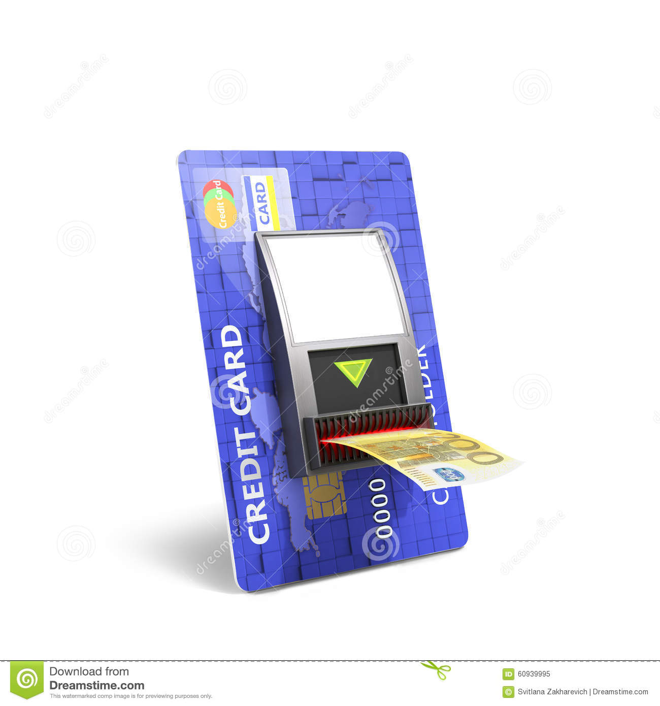 credit catd with cash validator stock image image of currency