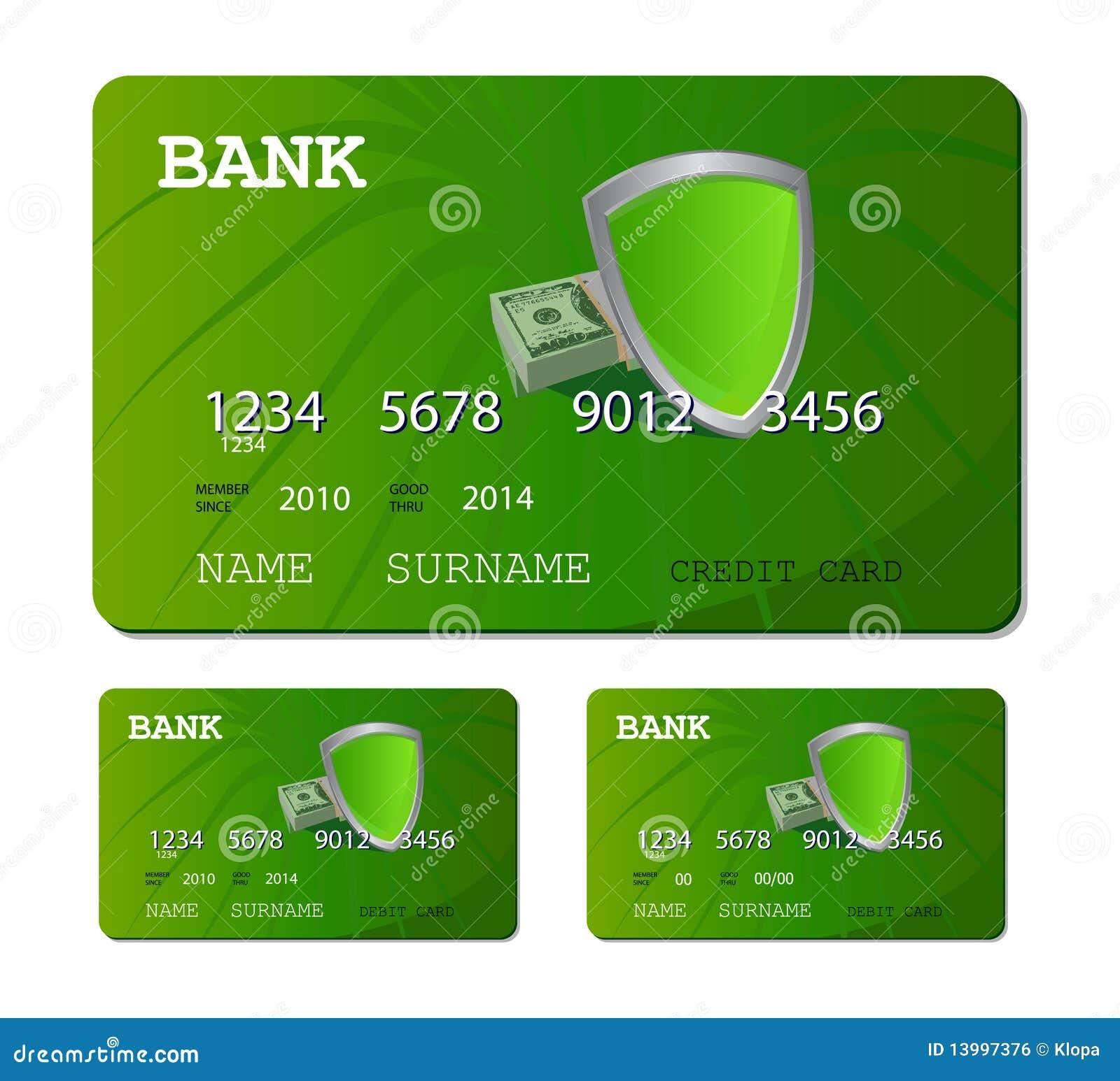 credit or debit green card royalty free stock image image 13997376. Black Bedroom Furniture Sets. Home Design Ideas