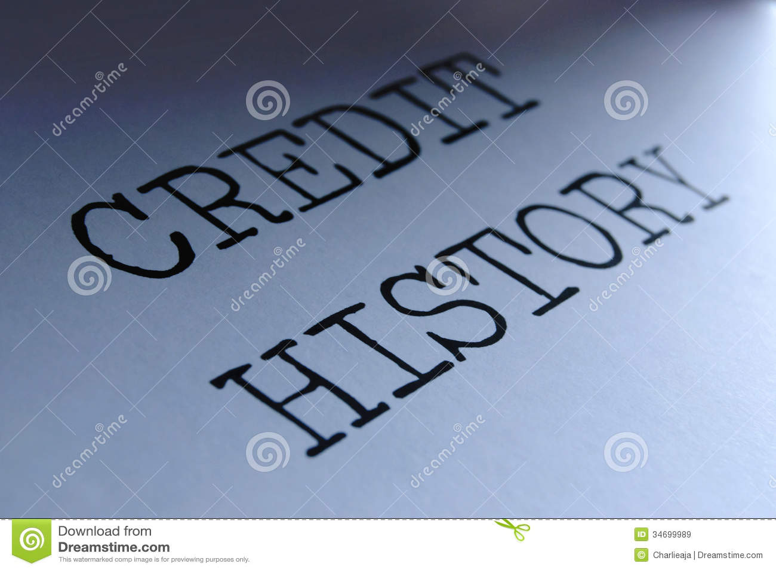 Credit history stock image. Image of account, history ...