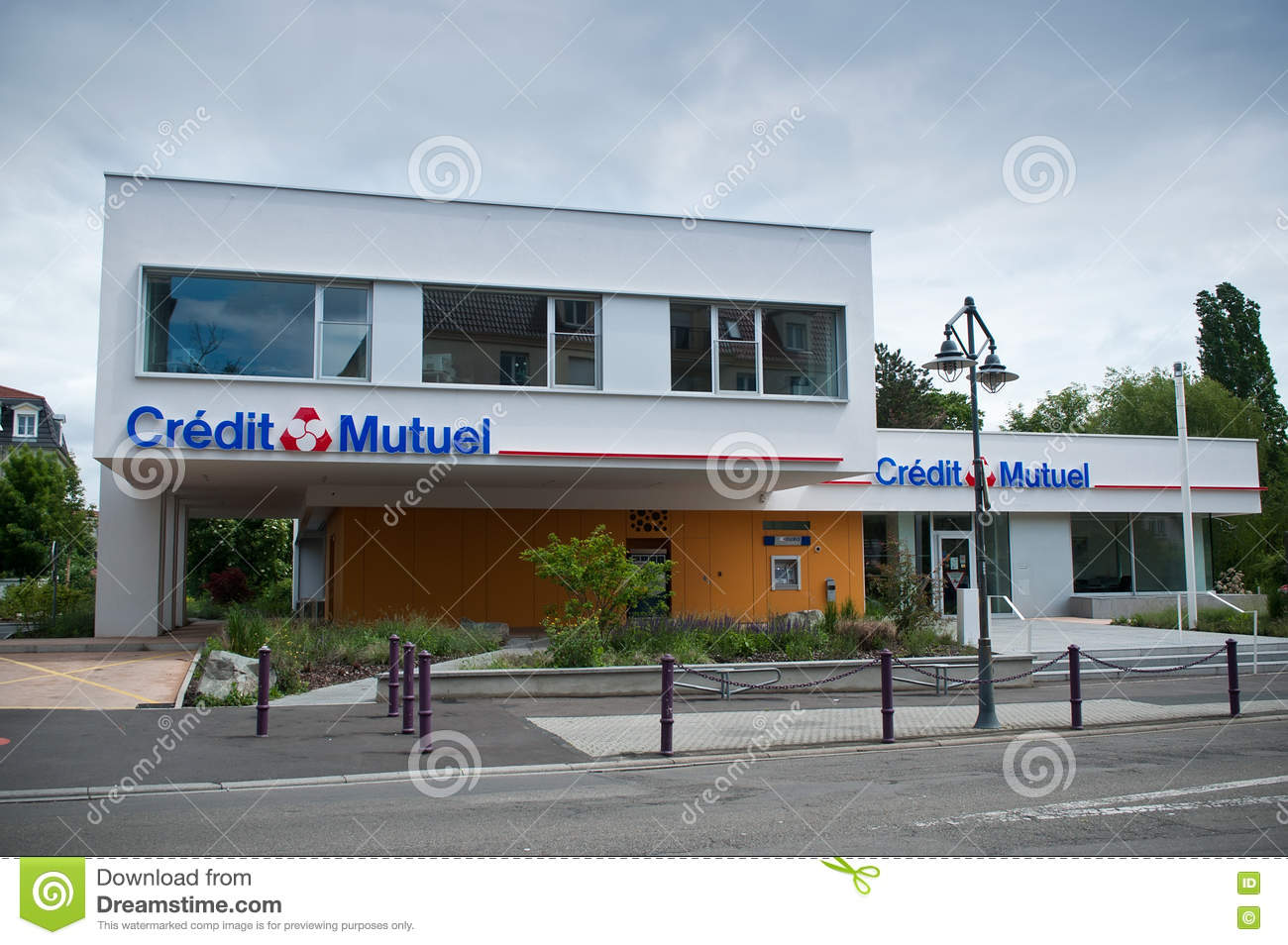 Credit Mutuel French Bank Agency Editorial Image Image Of