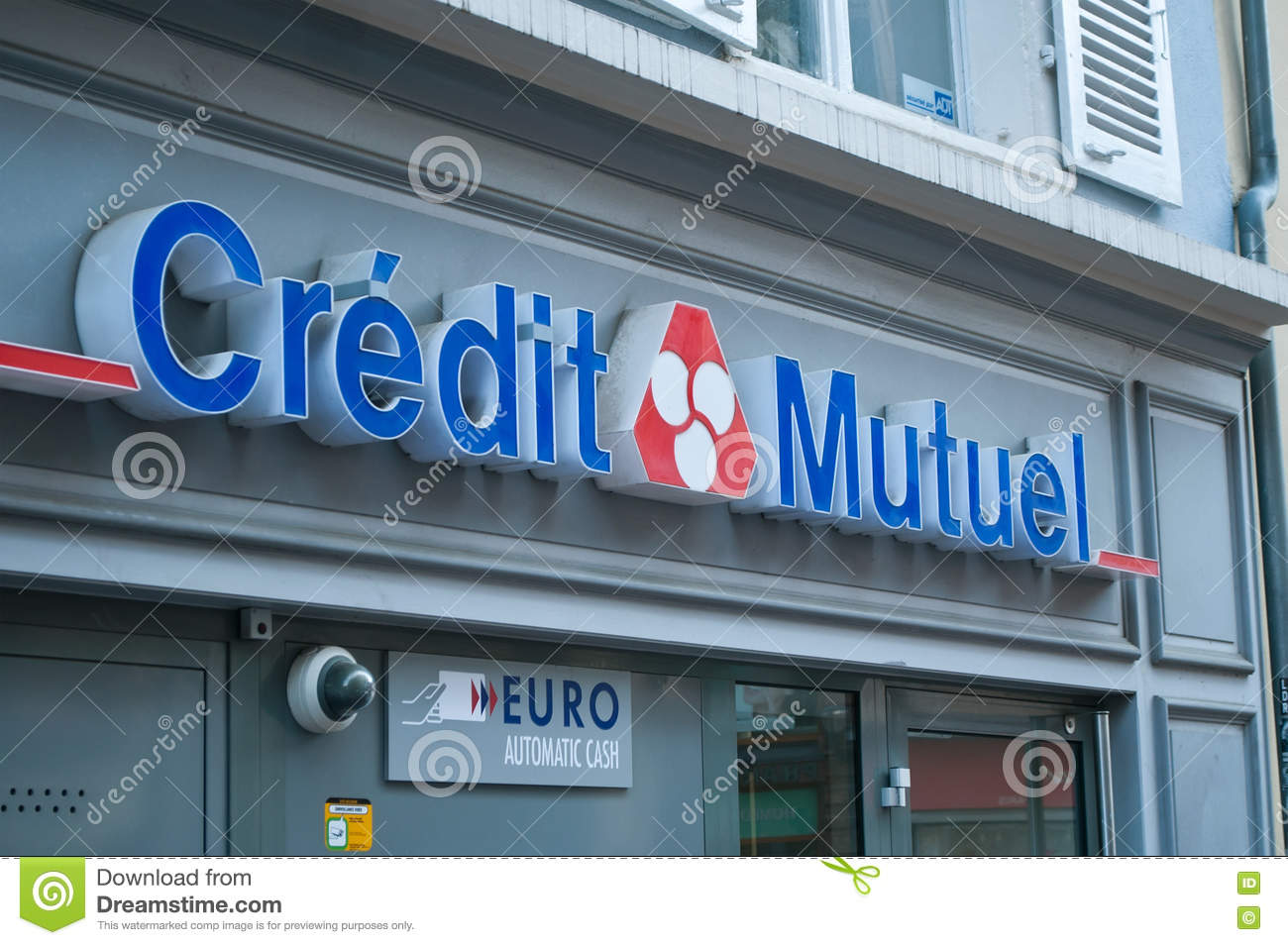 Credit Mutuel French Bank Signage Editorial Image Image Of