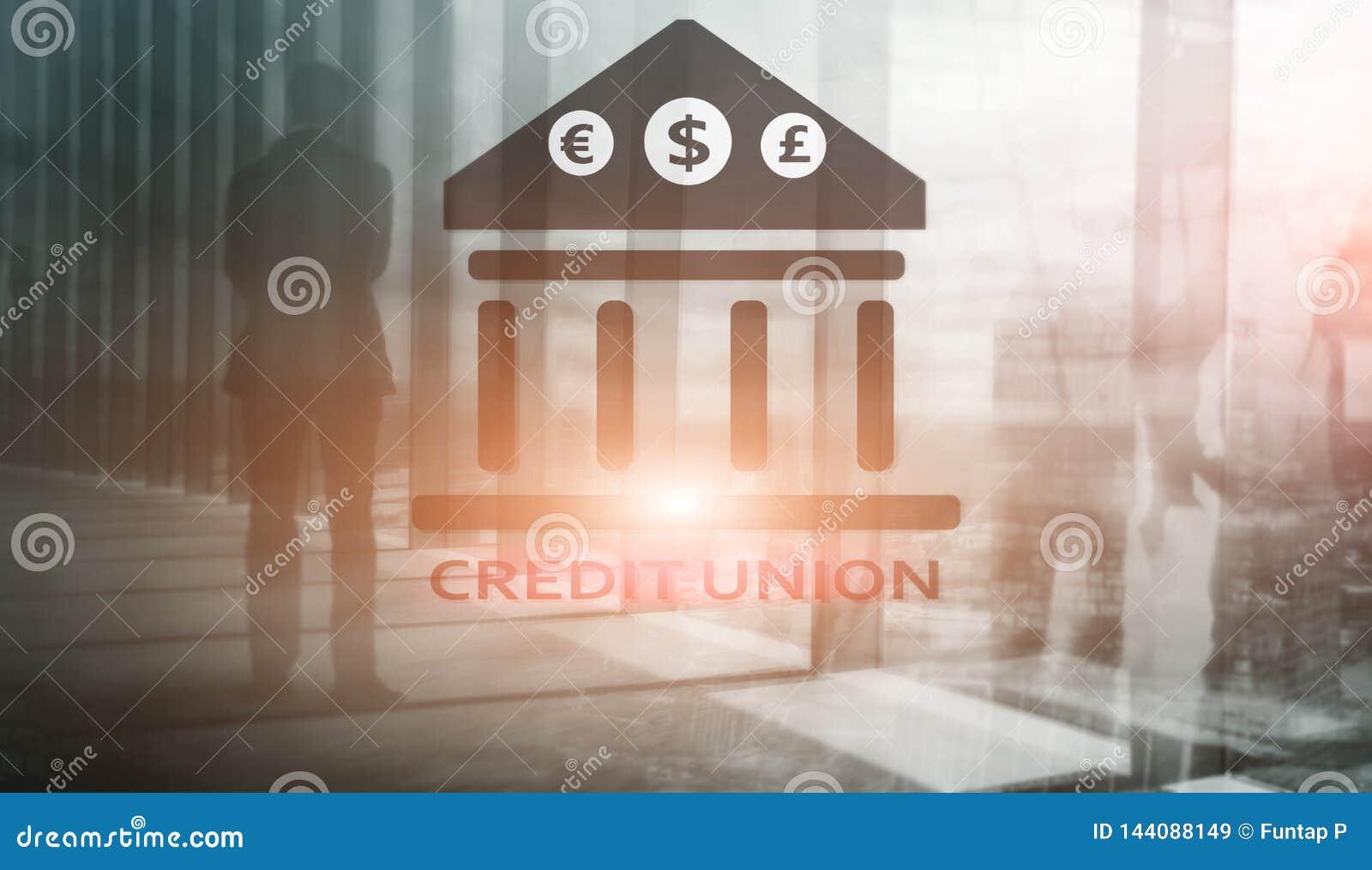 Credit Union Servicios bancarios cooperativos financieros Fondo abstracto de las finanzas