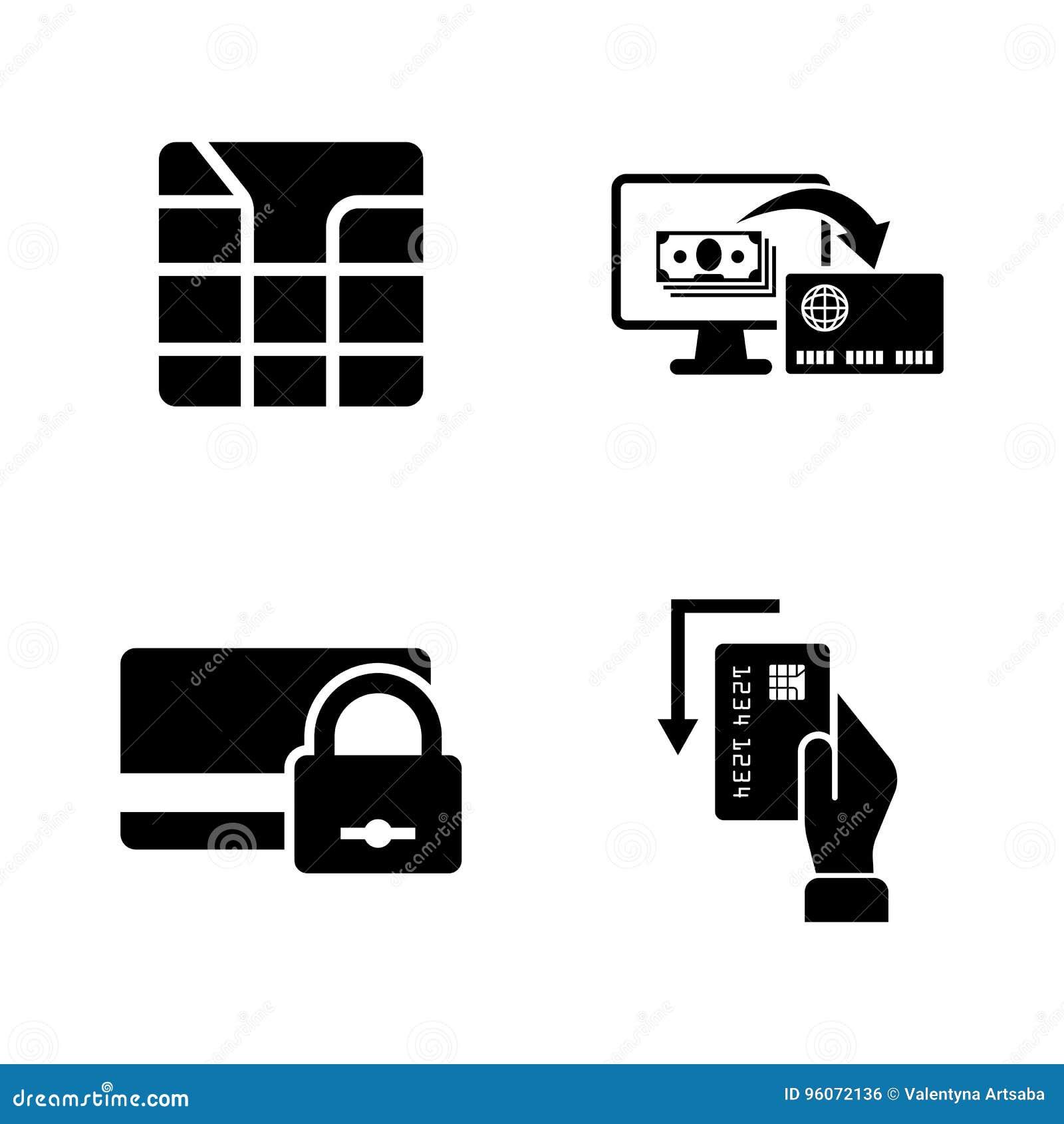 Creditcard s Eenvoudige Verwante Vectorpictogrammen