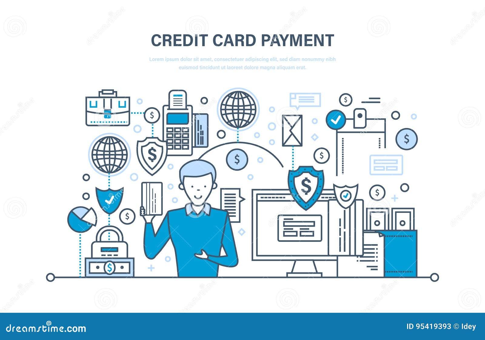 Creditcardbetaling, veilige transacties, financiën, bank, bankwezen, geldoverdrachten