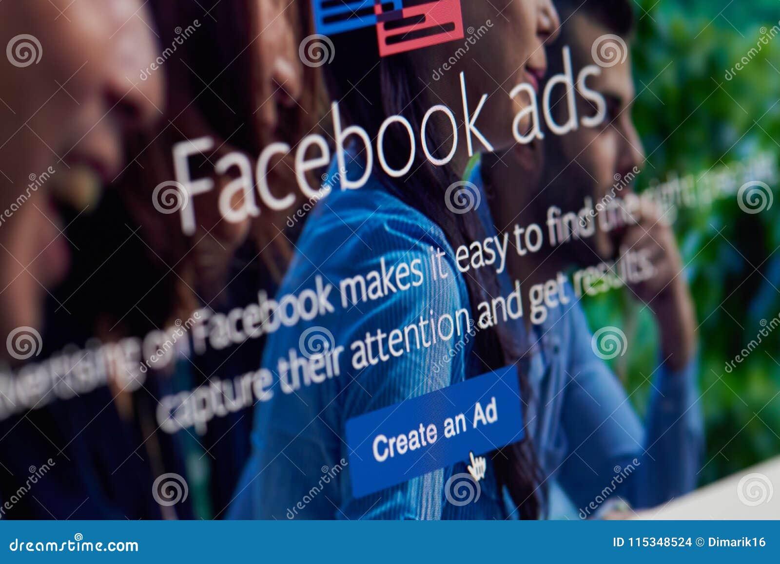 Cree un anuncio en el facebook app