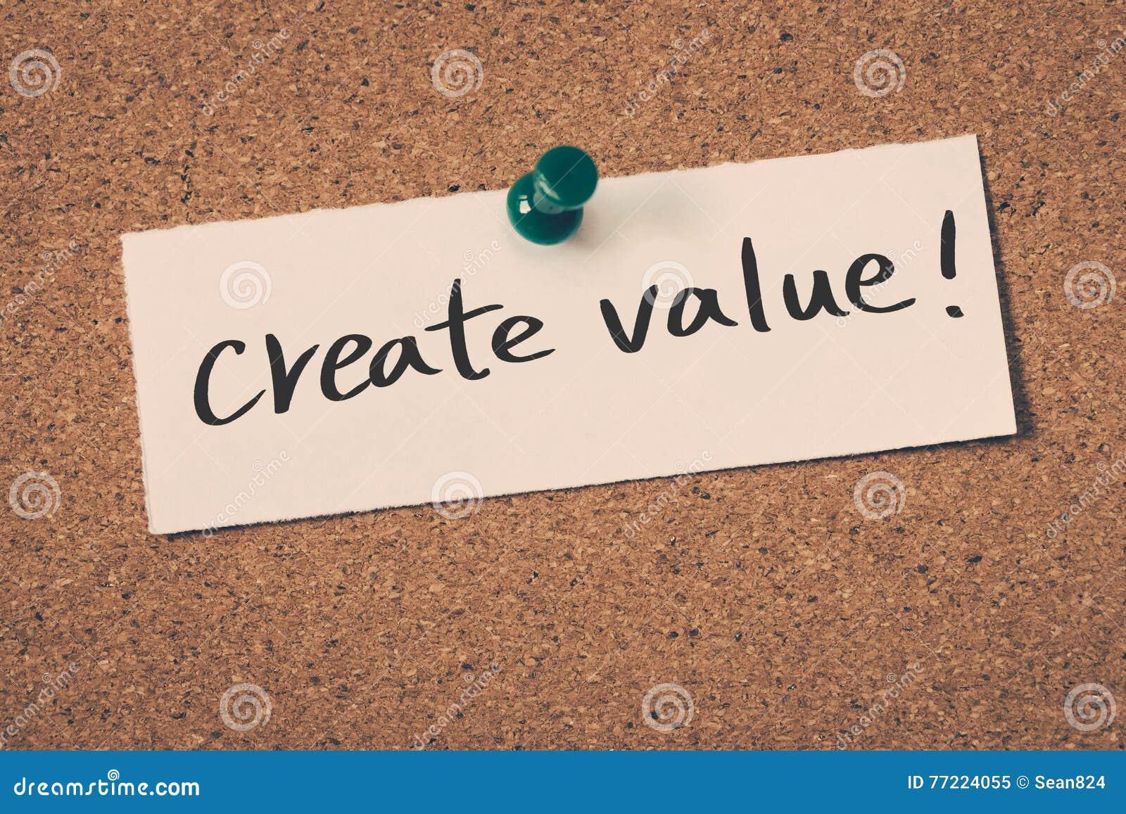 Creeer waarde