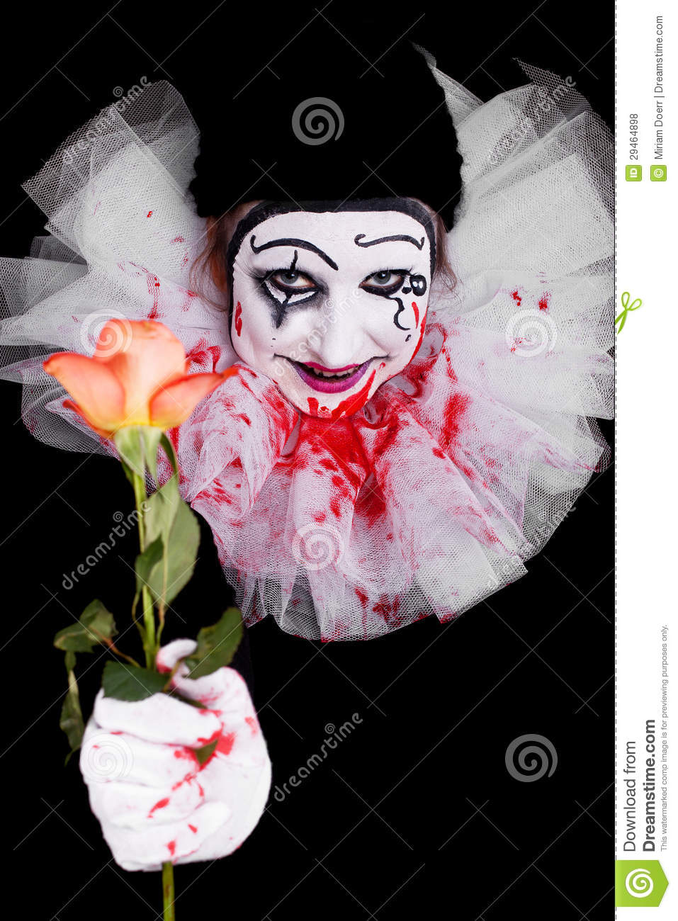 Creepy clown gives viewers a rose