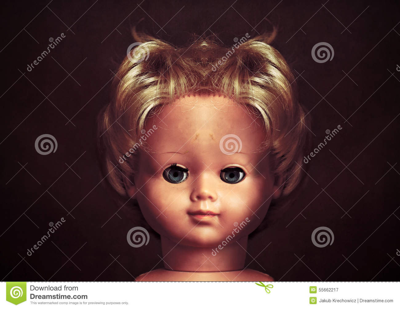 creepy doll face stock image image of dolly child halloween