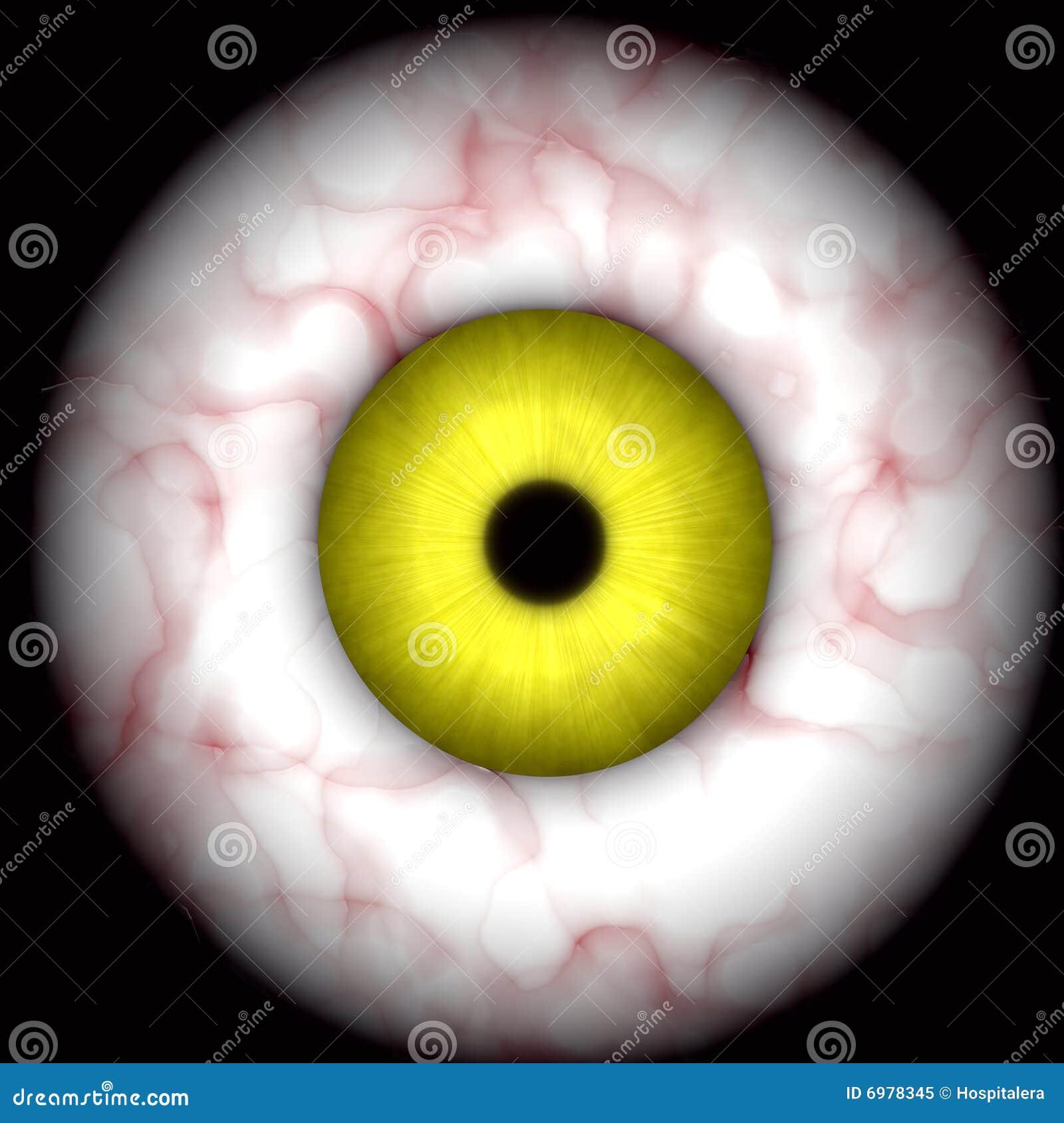 Creepy halloween eye 2 stock image image of human detail - Scary yellow eyes ...