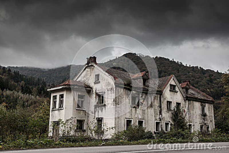 Creepy Old House Stock Image Of Mansion Building