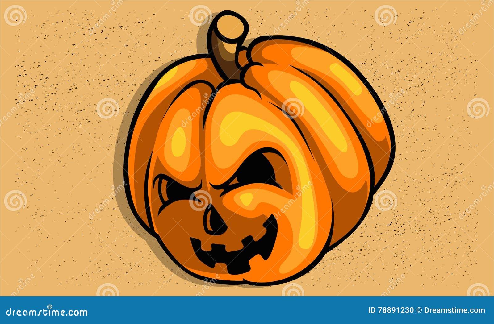 creepy scary pumpkin for halloween texture easy remove stock vector