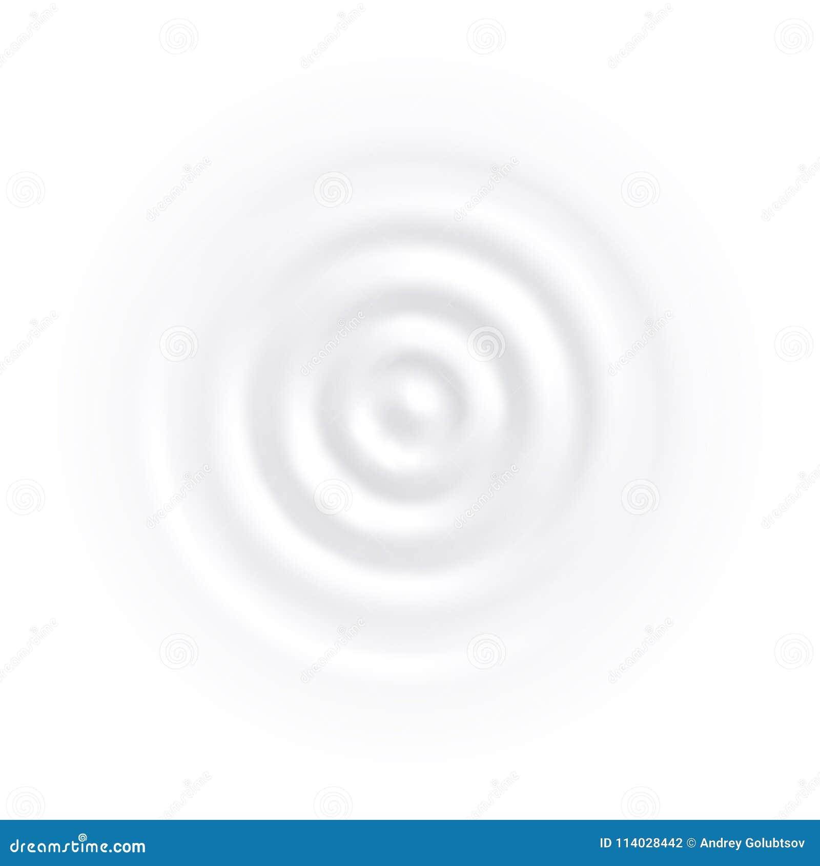 Crema blanca del yogur del vector de onda del círculo del chapoteo de la leche
