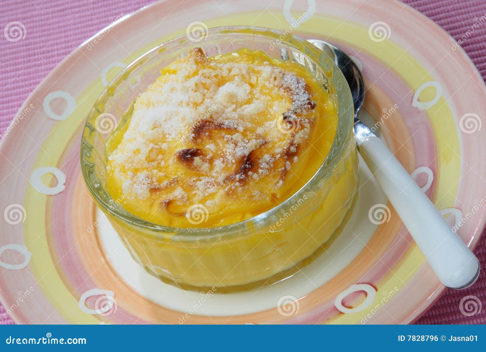 postre de huevo y azucar