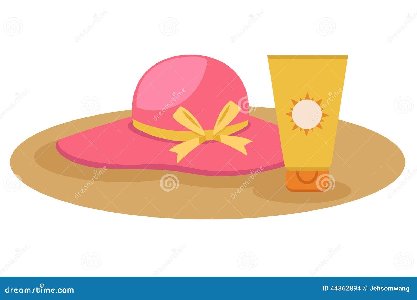 Crema di Sunblock con il cappello