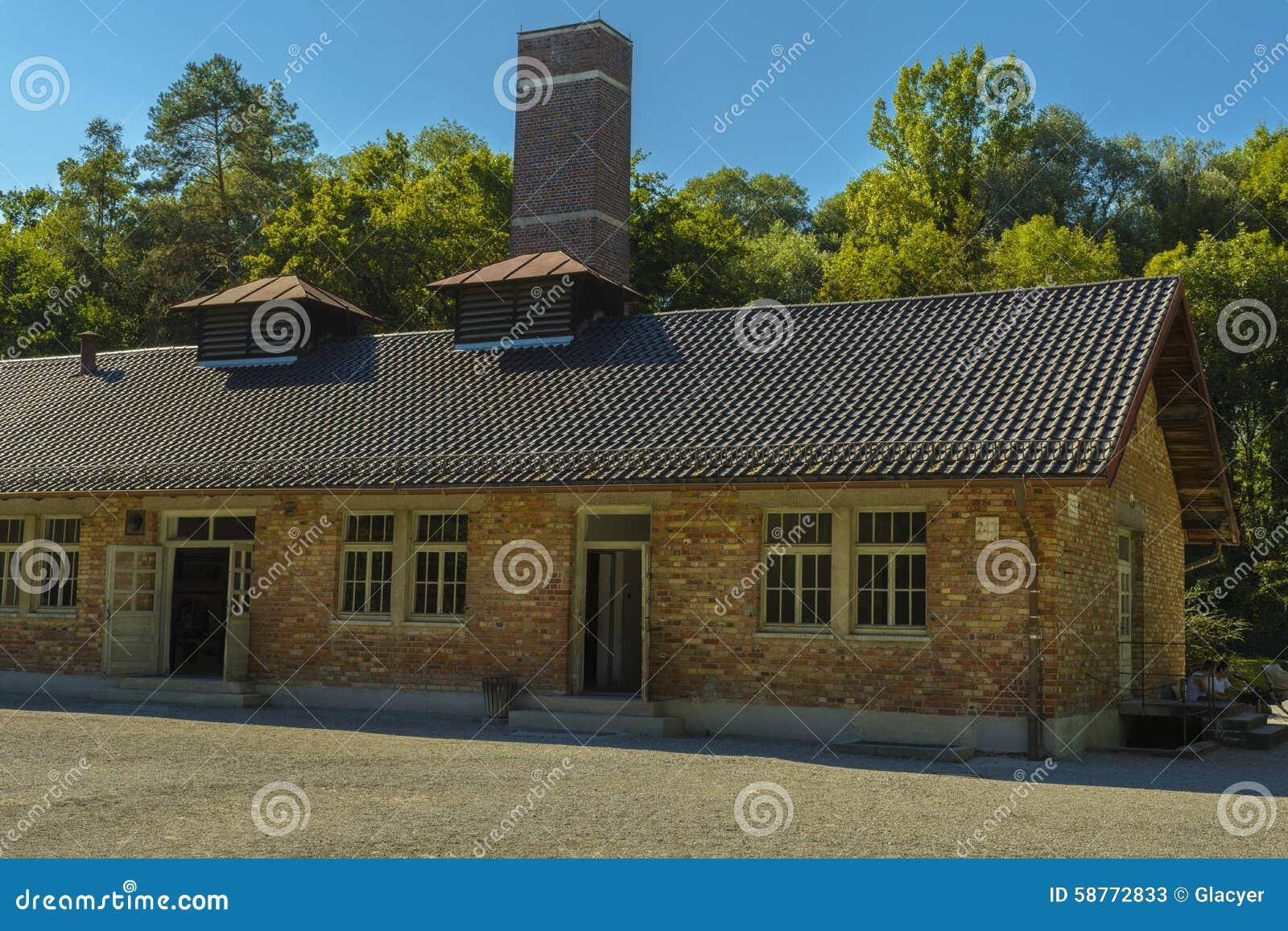 Crematorium od Dachau koncentracyjnego obozu, Niemcy