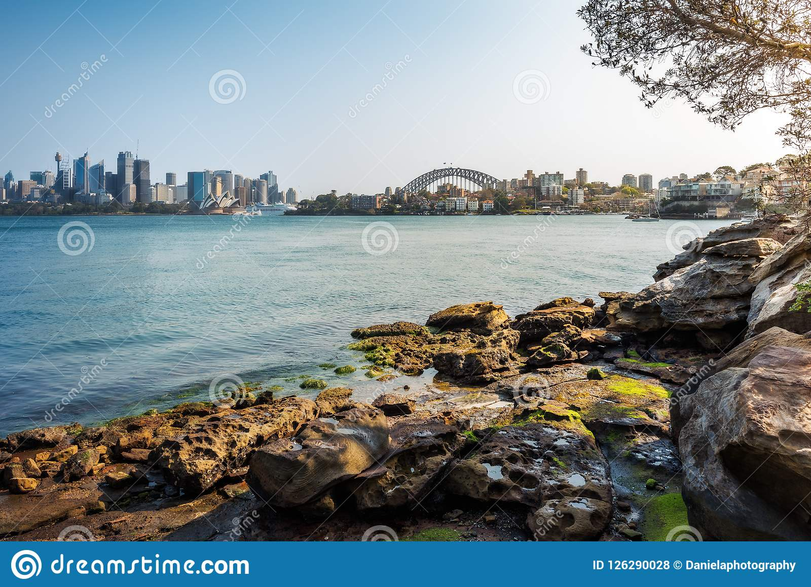 Shore Walking Trail at Cremorne Point in Sydney Harbour, Austral