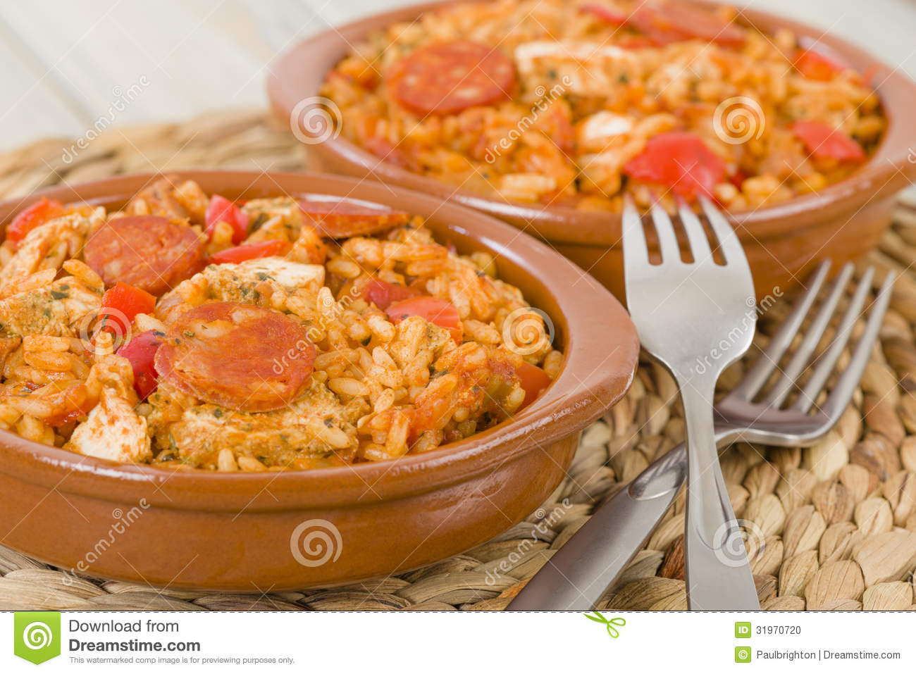Creole Jambalaya - Rice cooked with chicken, smoked sausage and ...