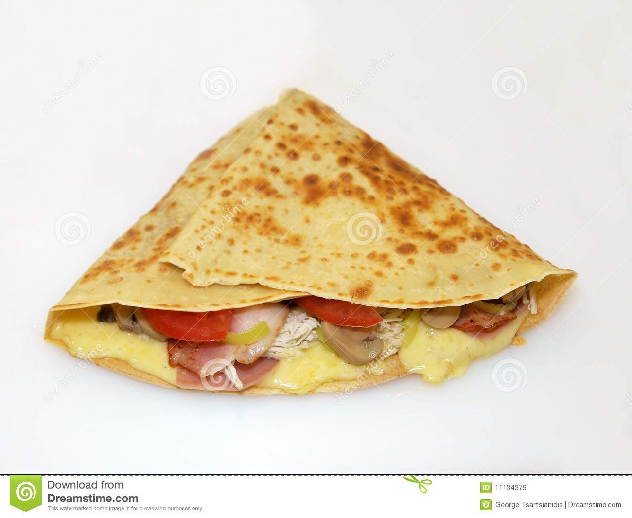 Crepe with filling