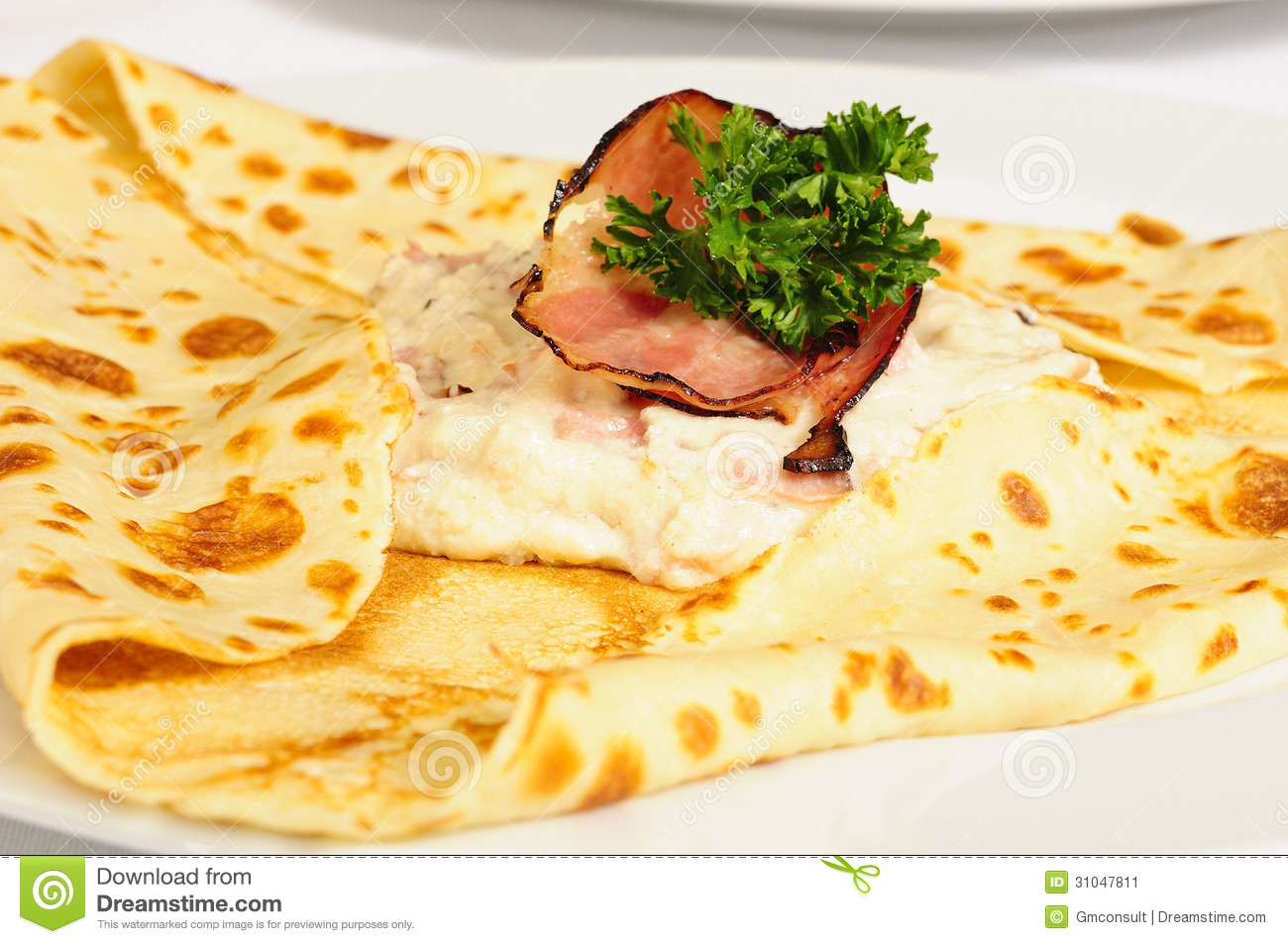 crepe crepes pancake pancakes with ham and g stock. Black Bedroom Furniture Sets. Home Design Ideas
