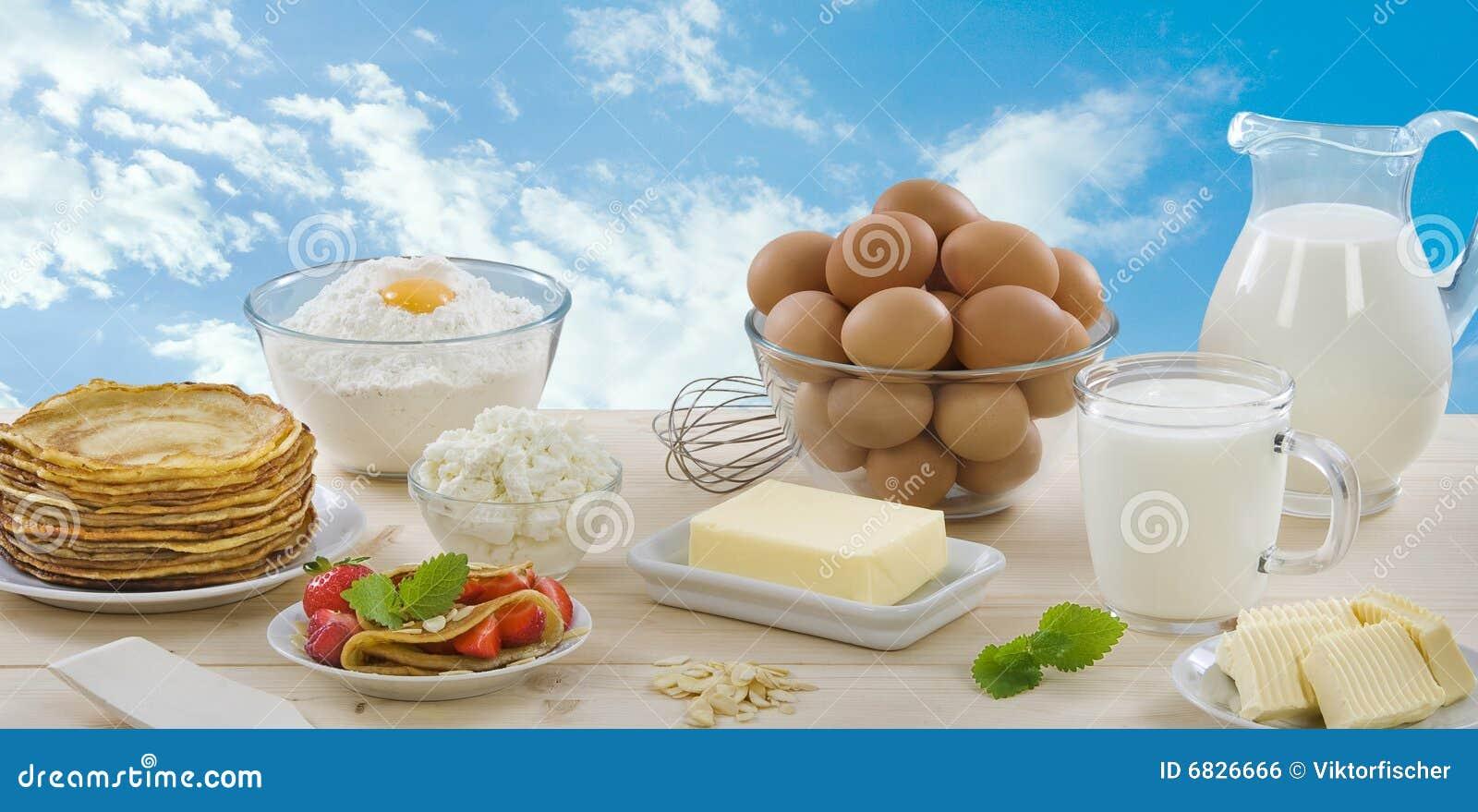 Crepes y productos lácteos