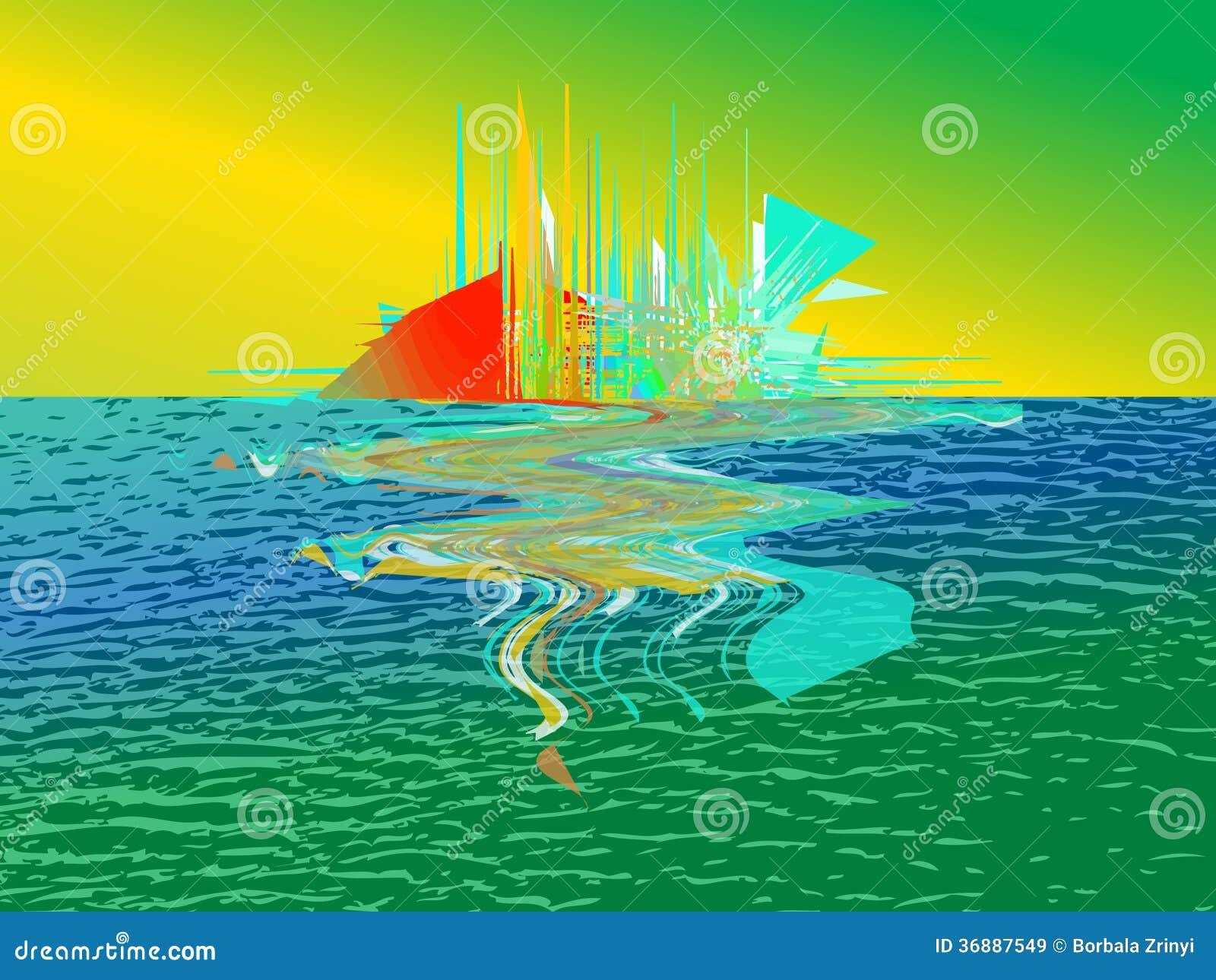 Download Crepuscolo illustrazione vettoriale. Illustrazione di immagine - 36887549