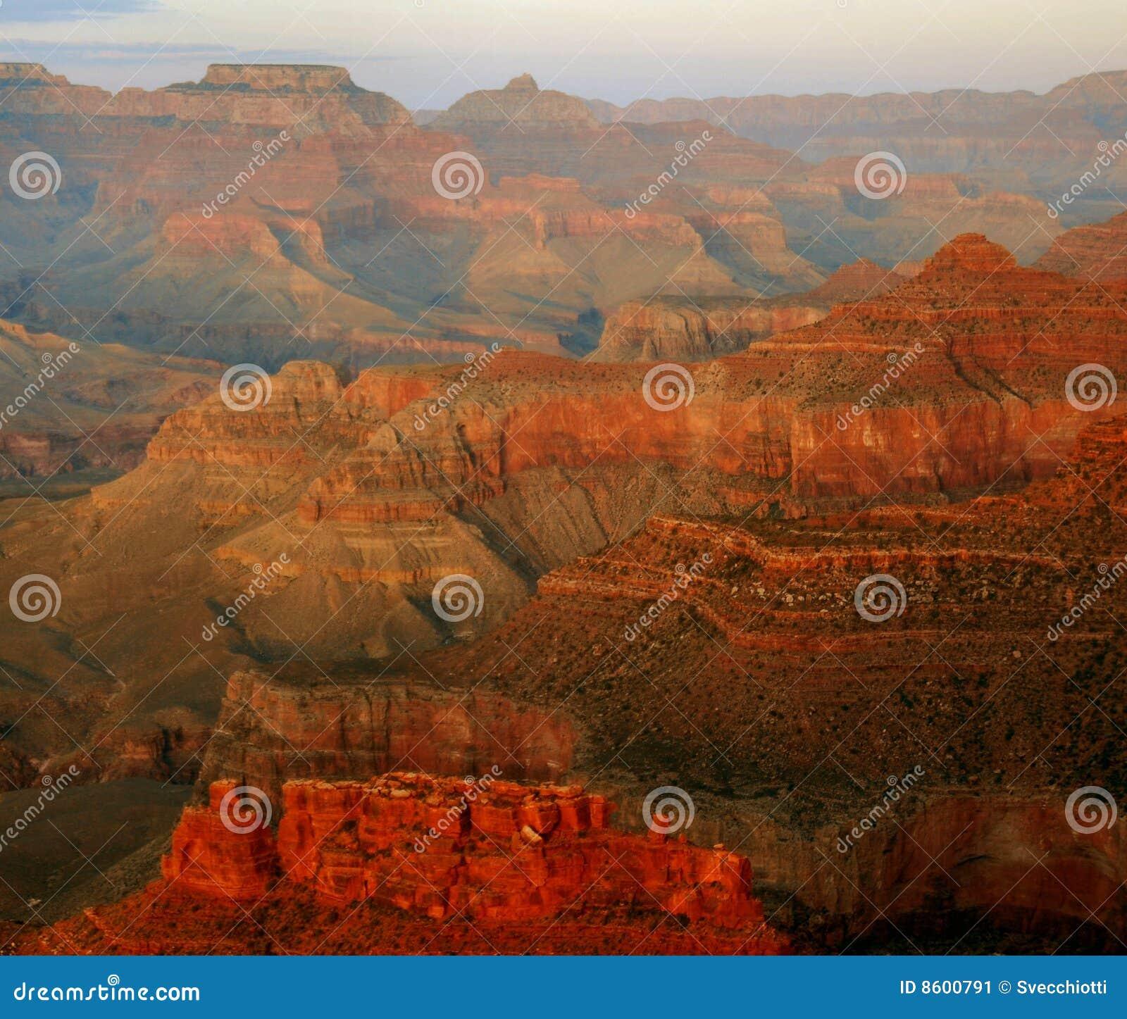 Crepuscolo, grande canyon