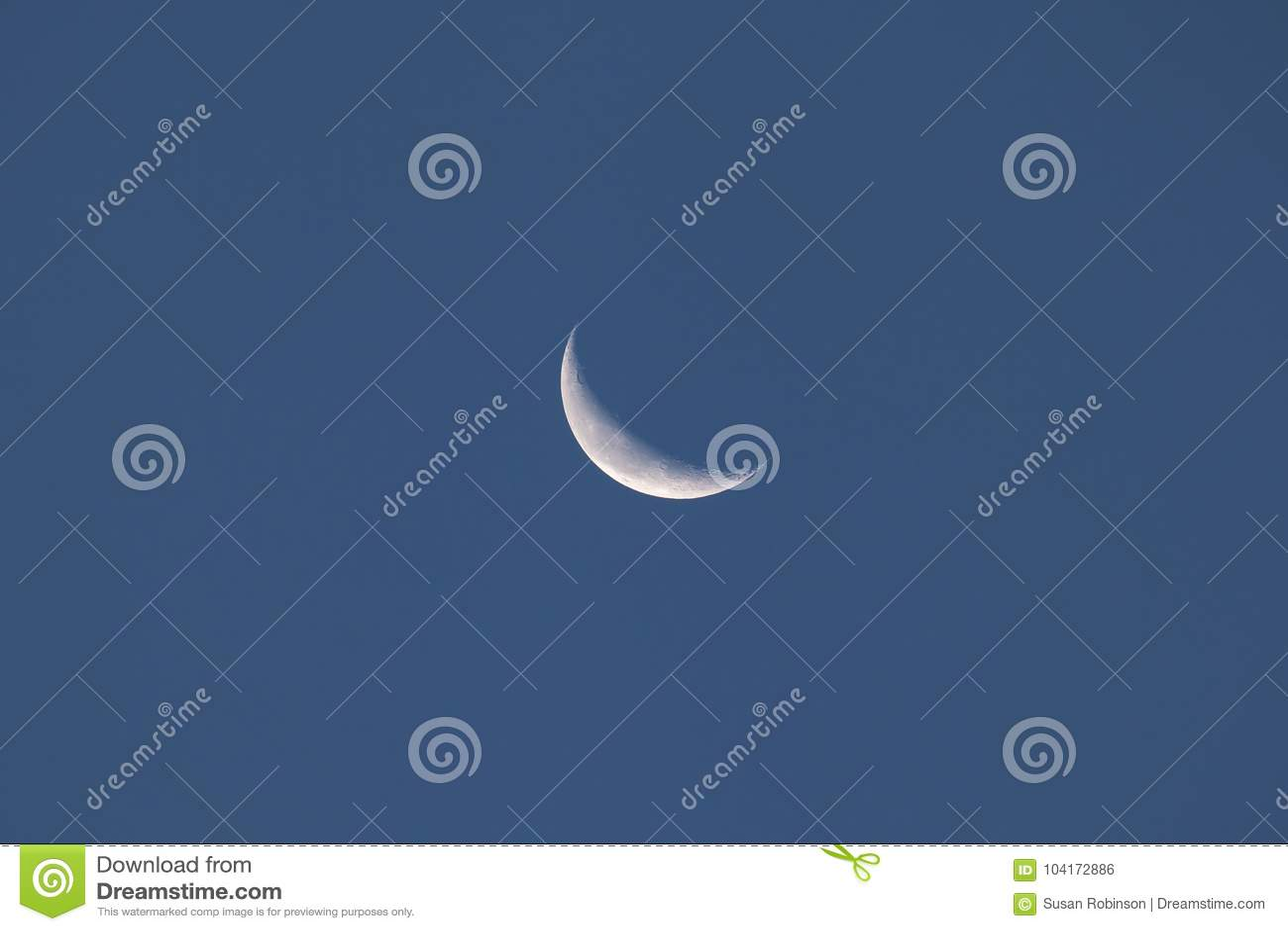 Crescent Moon el 15 de octubre de 2017 de disminución