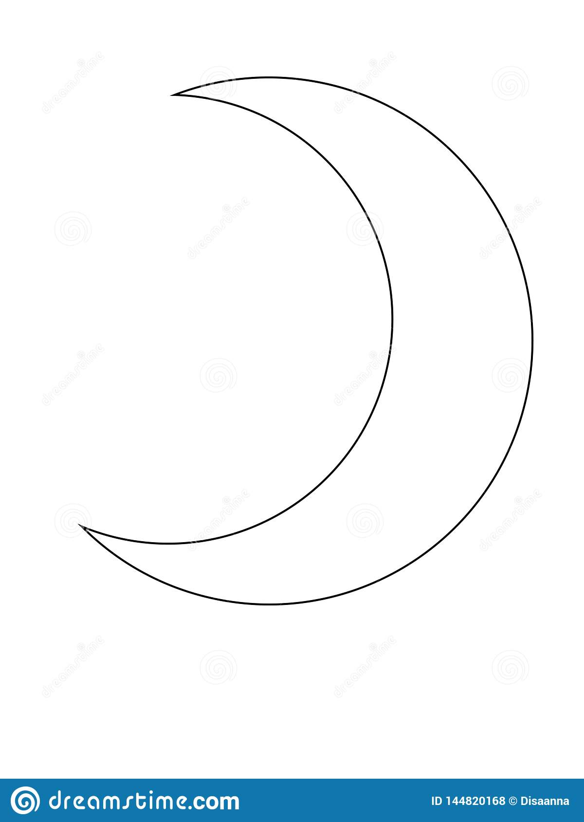 Crescent Moon Outline The Month Of The Muslim Symbol Stock Vector Illustration Of Moon Culture 144820168 Create a gorgeous outline moon manicure with this easy nail art tutorial! https www dreamstime com crescent moon outline month muslim symbol vector coloring image144820168