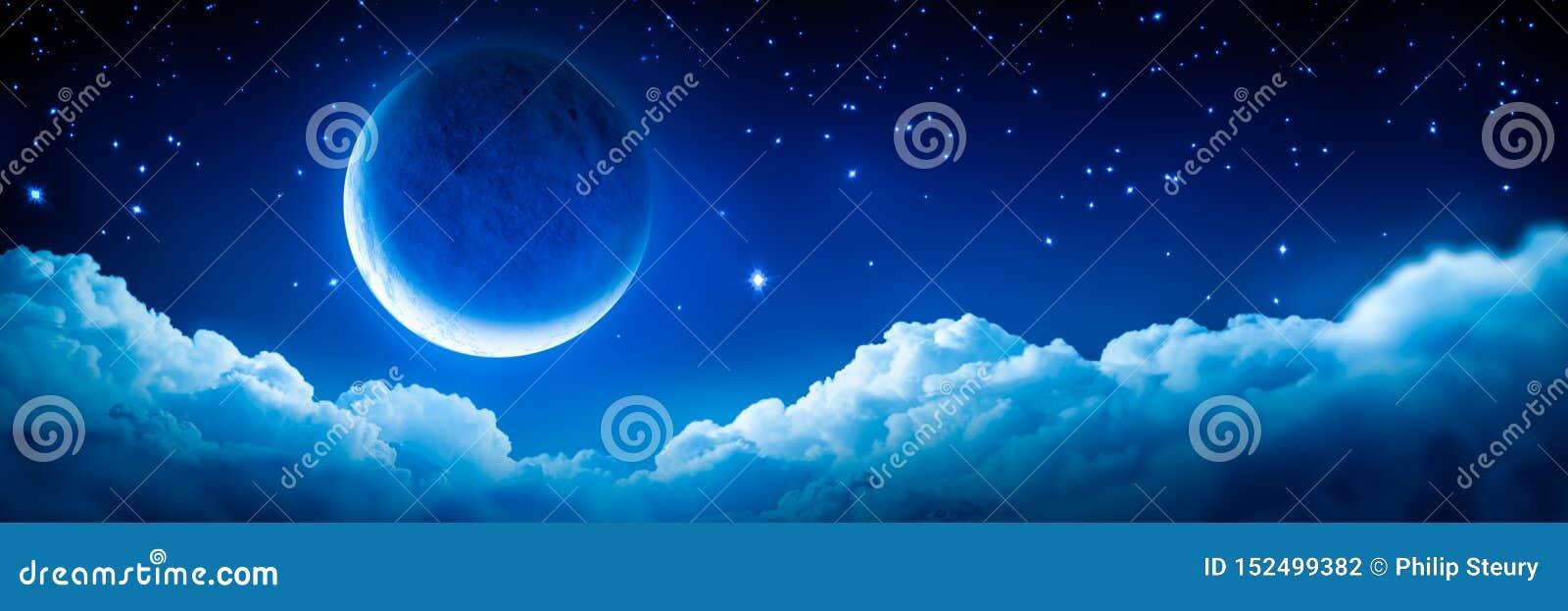 Crescent Moon rougeoyant intelligent