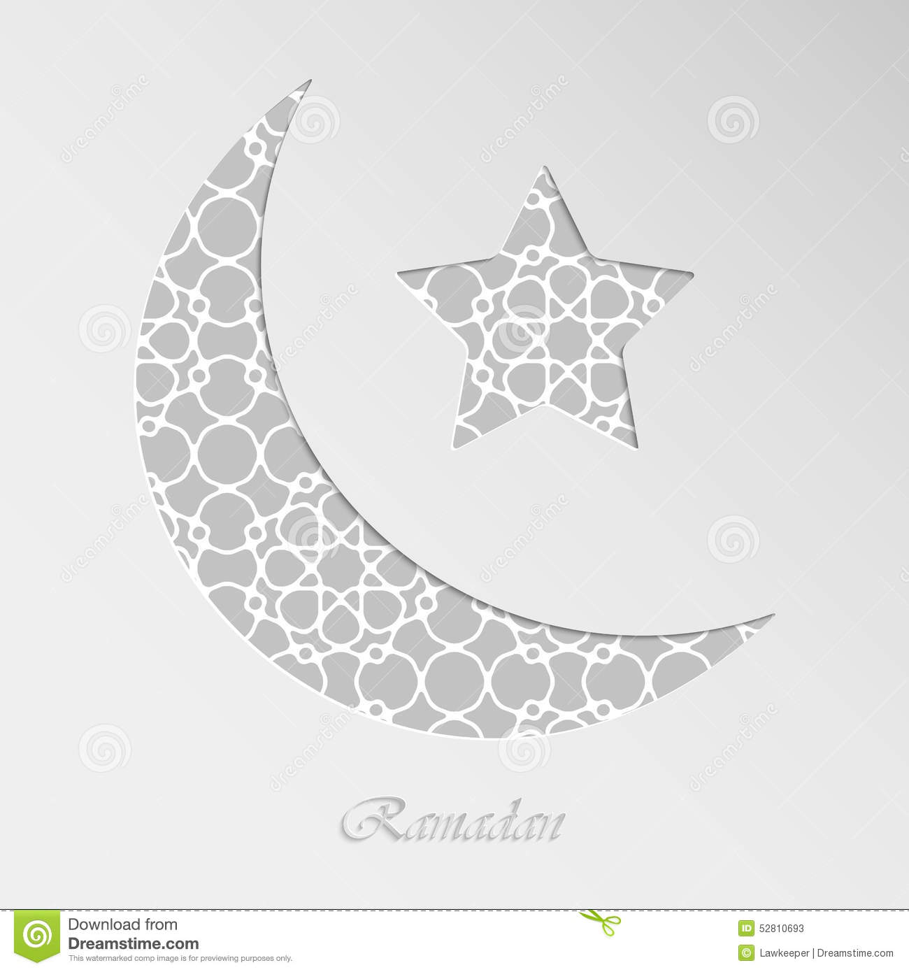 Crescent moon and star stock vector illustration of grey 52810693 crescent moon and star biocorpaavc Gallery