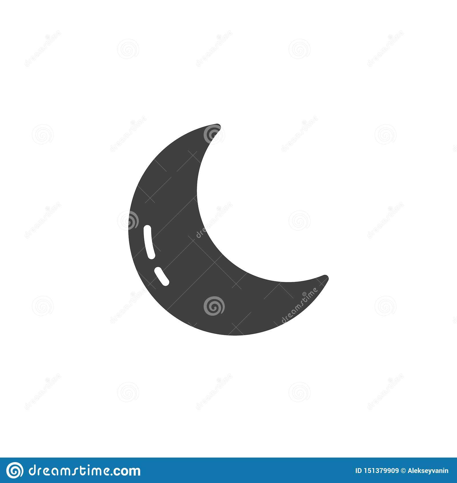 crescent moon vector icon stock vector illustration of graphics 151379909 https www dreamstime com crescent moon vector icon filled flat sign mobile concept web design clear night weather glyph icon forecast weather image151379909