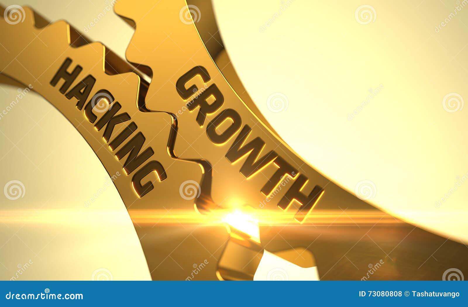 Crescimento que corta em rodas denteadas metálicas douradas