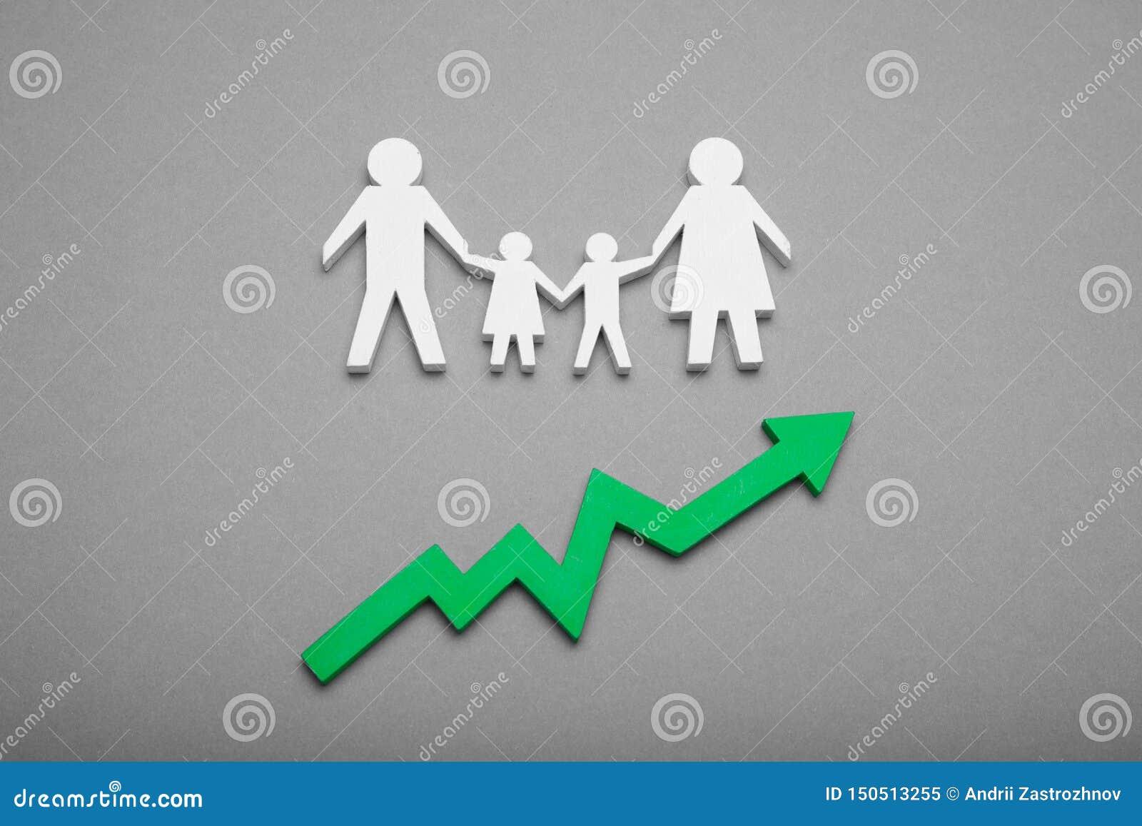 Crescita di popolazione umana del mondo concetto di tasso di natalit?