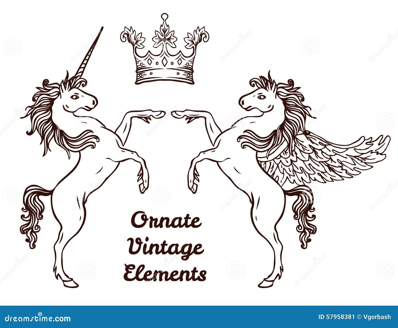 crest with vintage style design elements use for logo frame