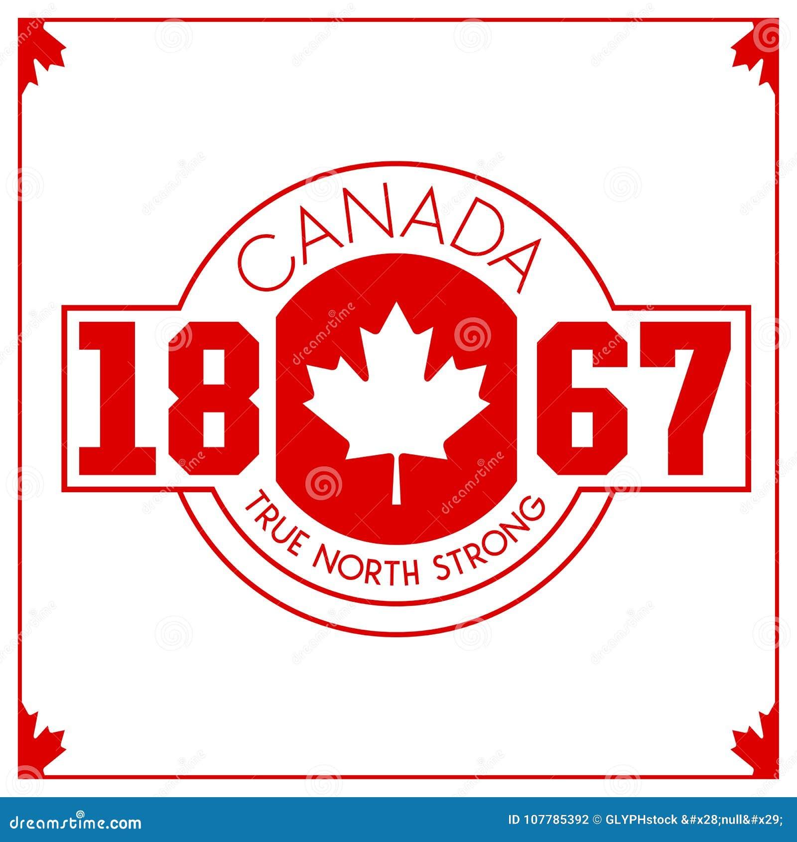 Cresta canadiense del vector