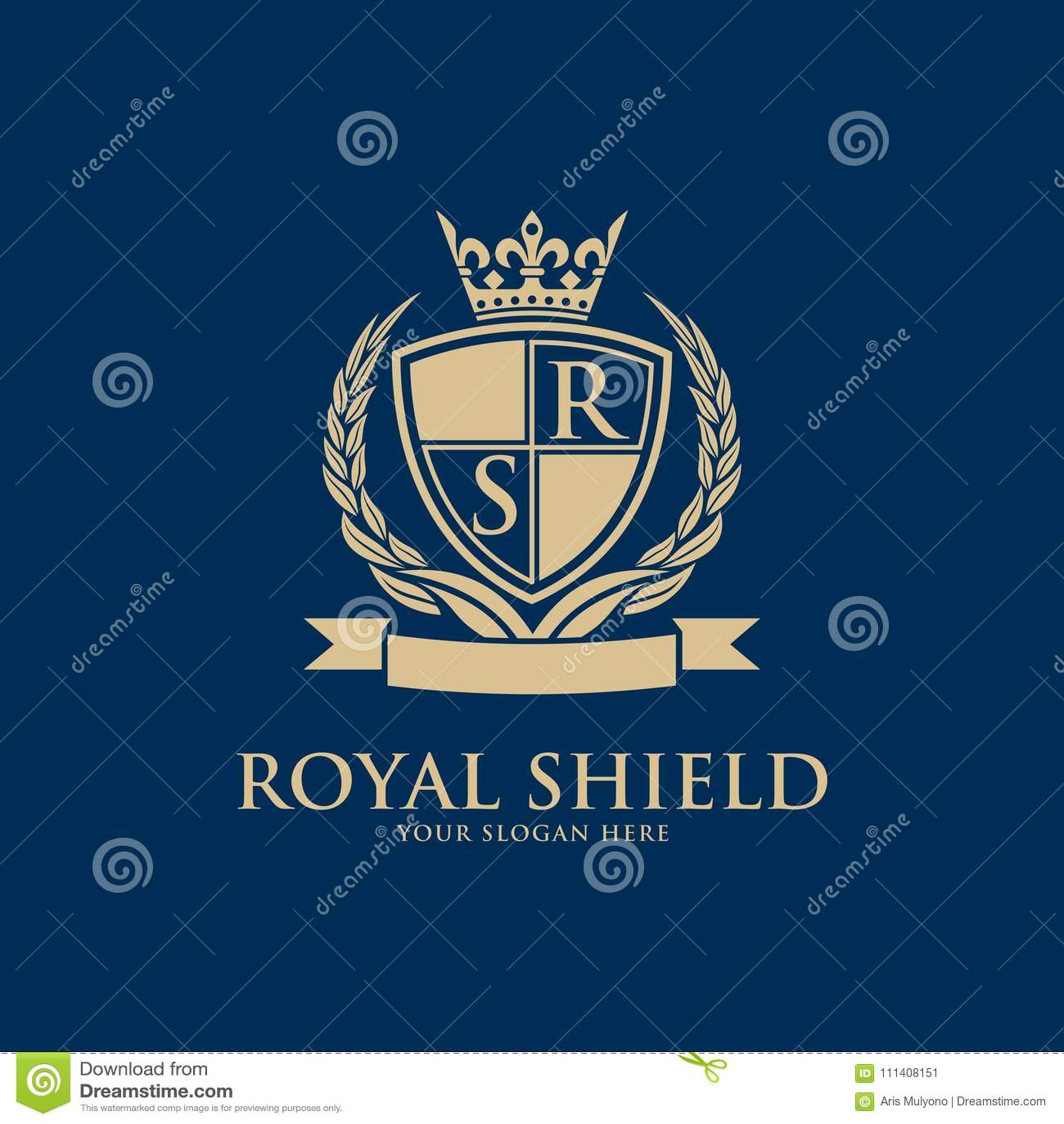 crests logo hotel logo luxury letter monogram stock illustration