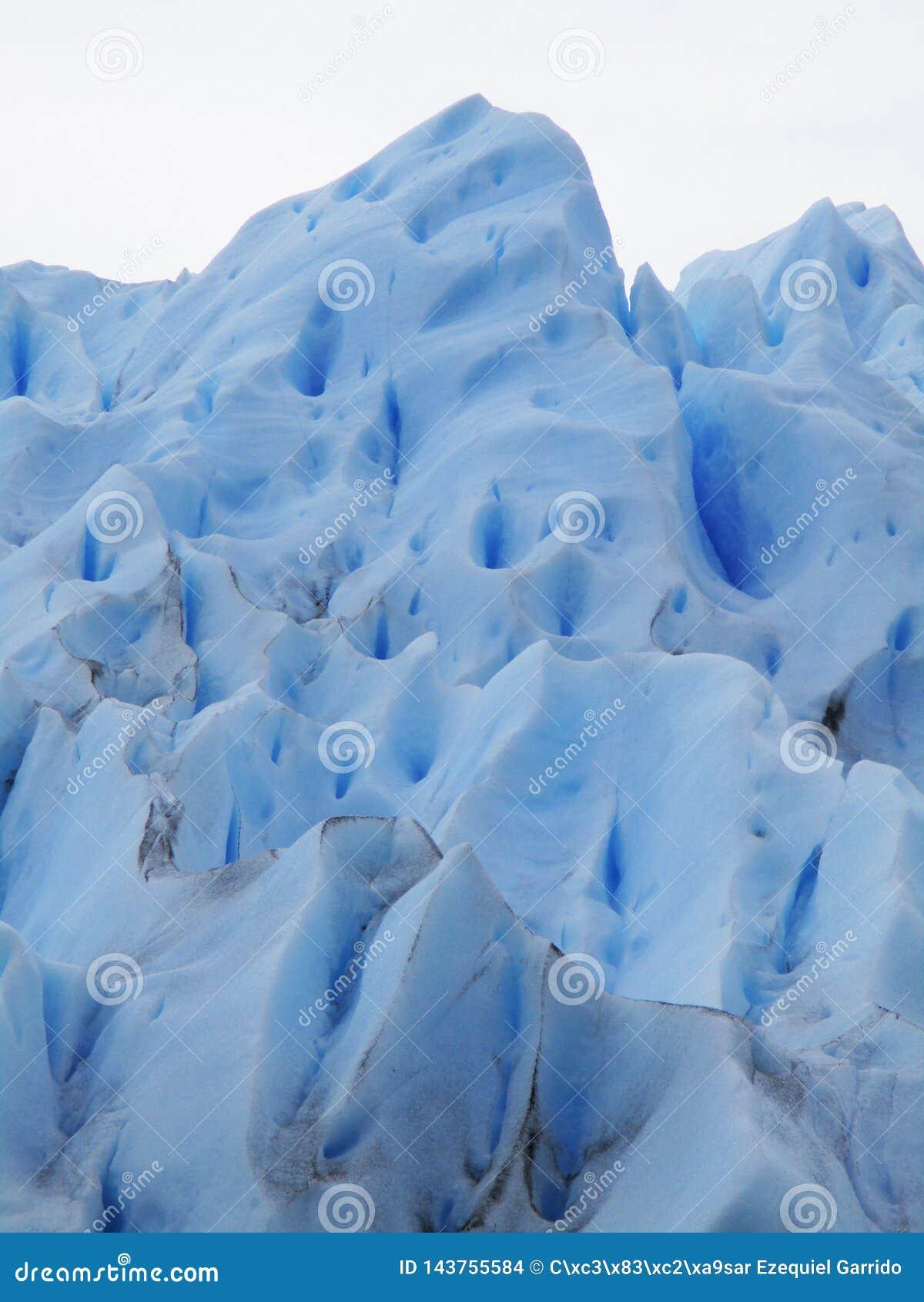 Crevasses w Perito Moreno lodowu, Argentyna