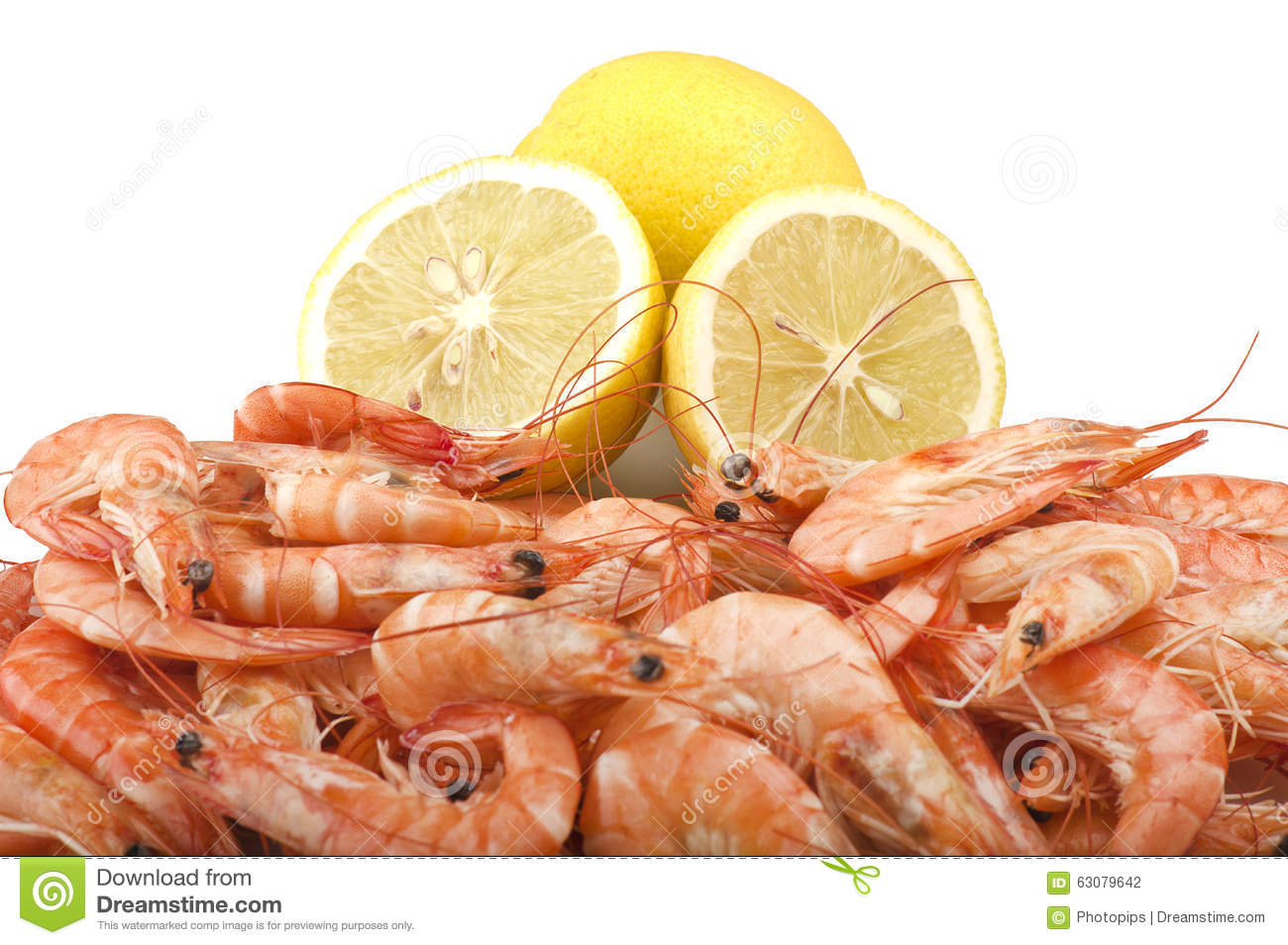 Download Crevette crue fraîche photo stock. Image du gourmet, prawn - 63079642