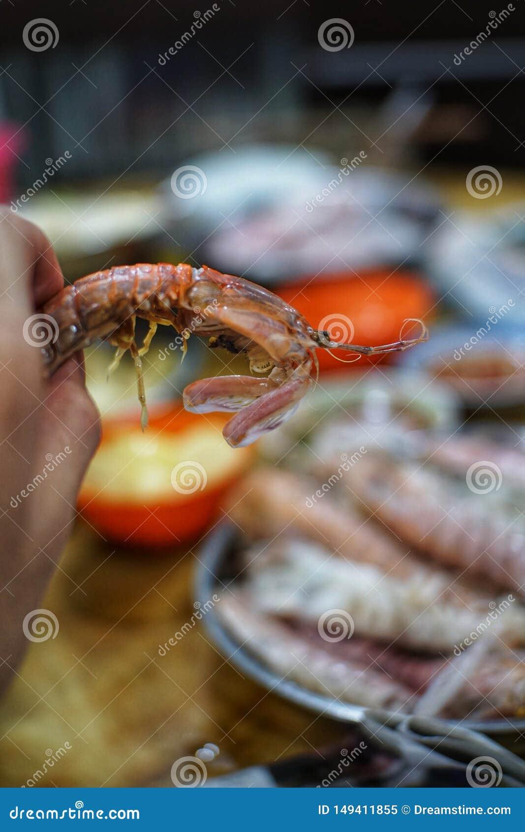 Crevette et piment