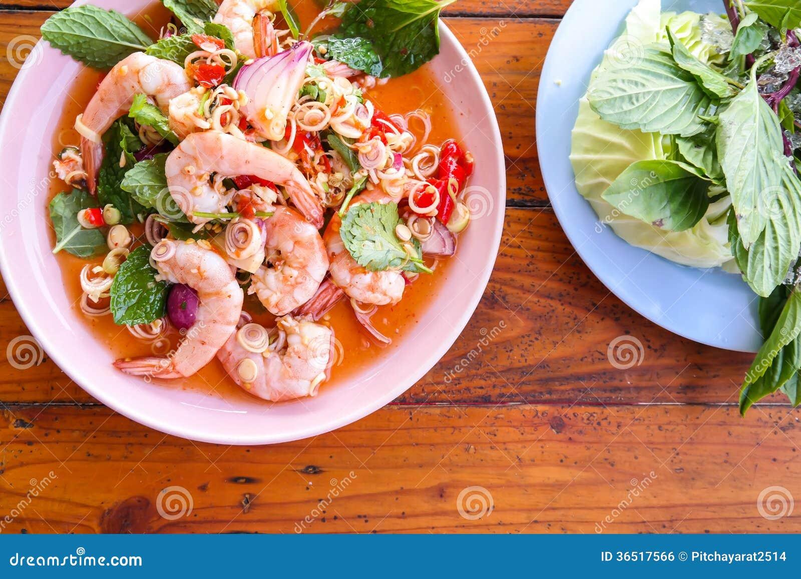 Crevette spciy de salade