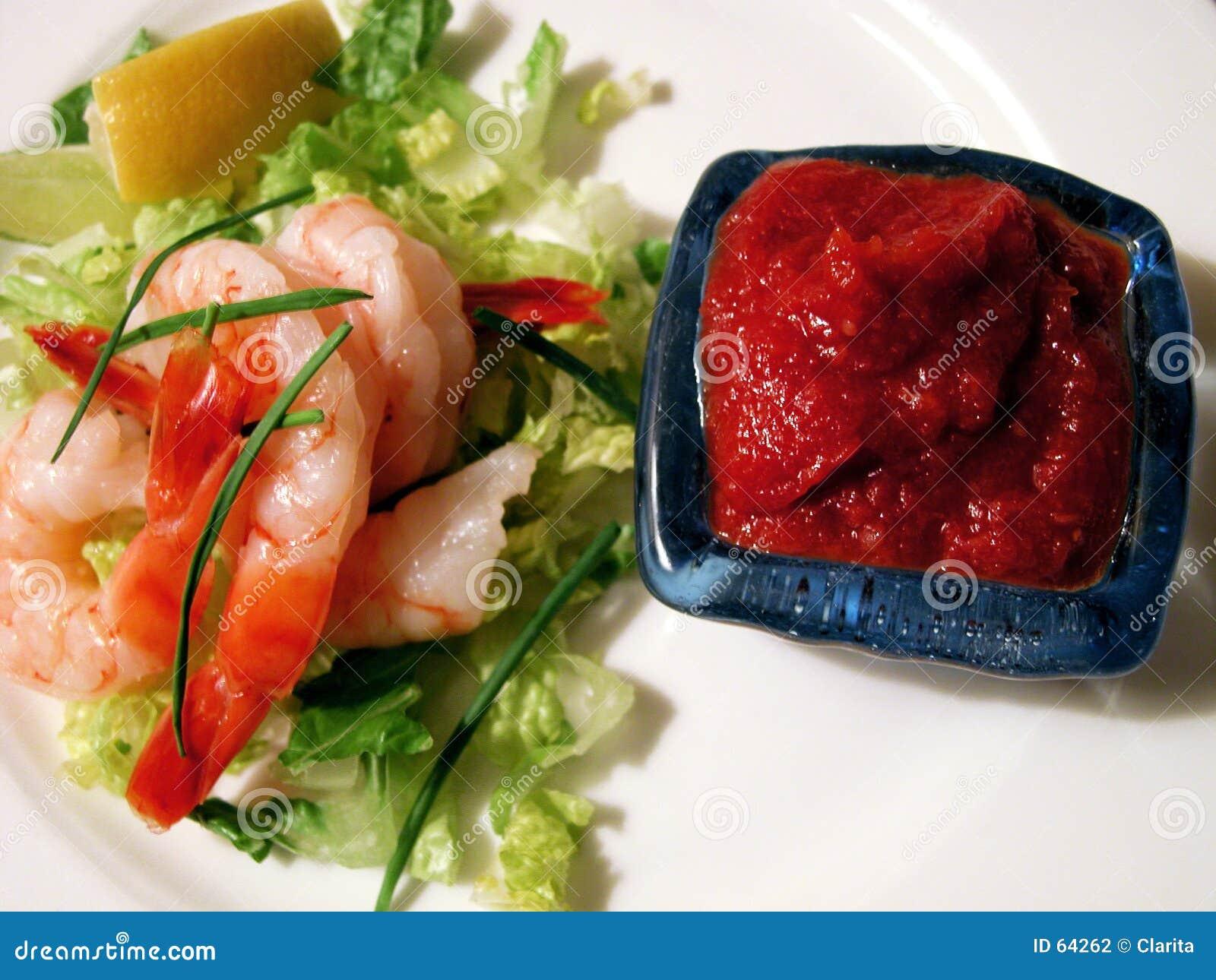 Download Crevettes photo stock. Image du macro, prawn, assiettes - 64262