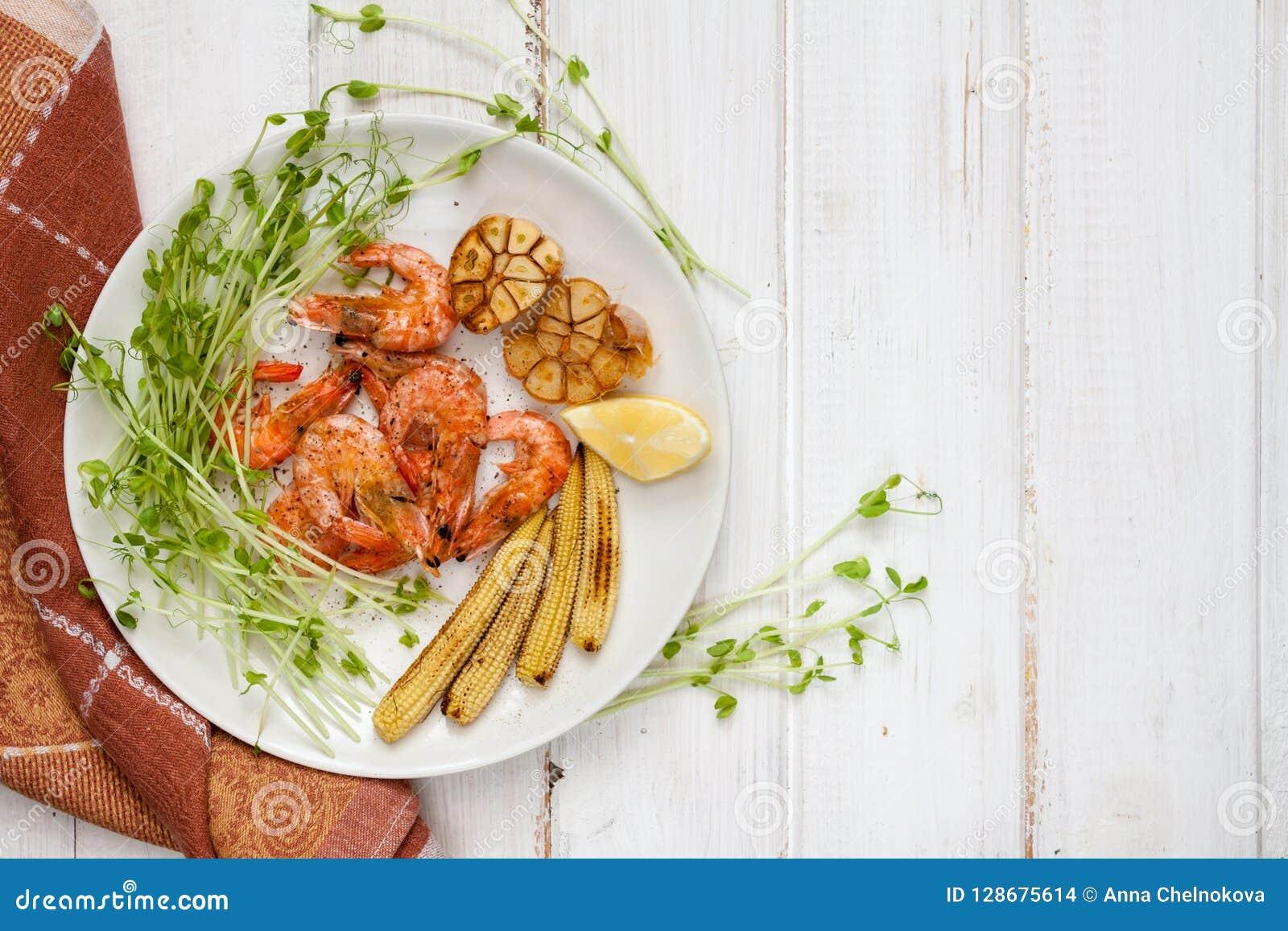 Crevettes, maïs et ail Toasty