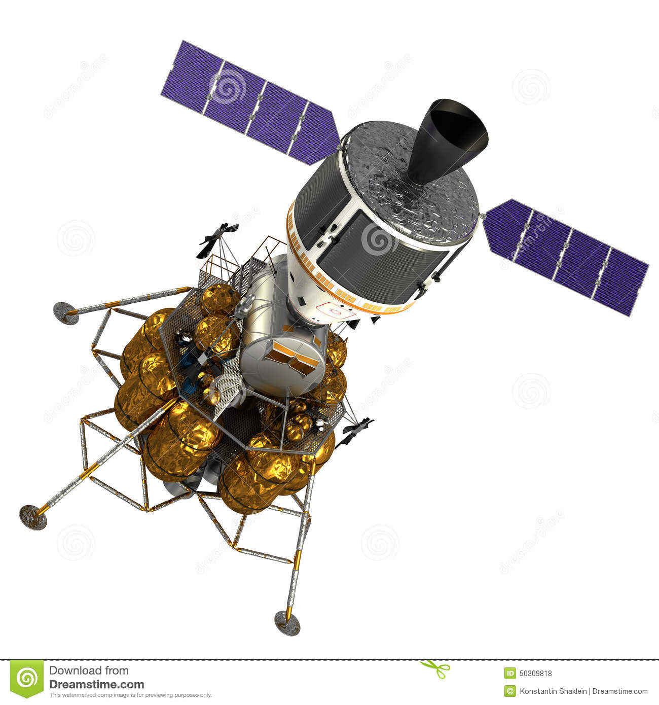 Crew Exploration Vehicle In Space Stock Photo