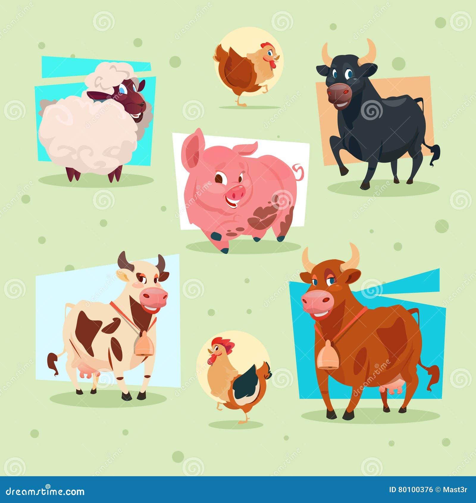 Criação de animais da exploração agrícola do ícone dos animais domésticos