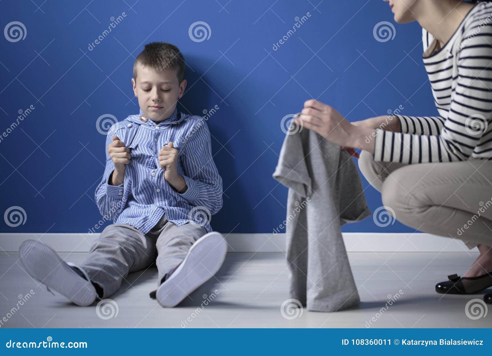 Criança com síndrome de Heller