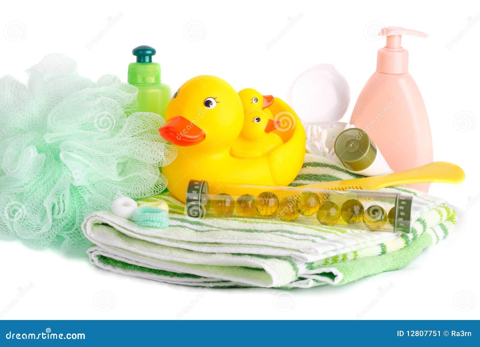 Criança dos acessórios do banho