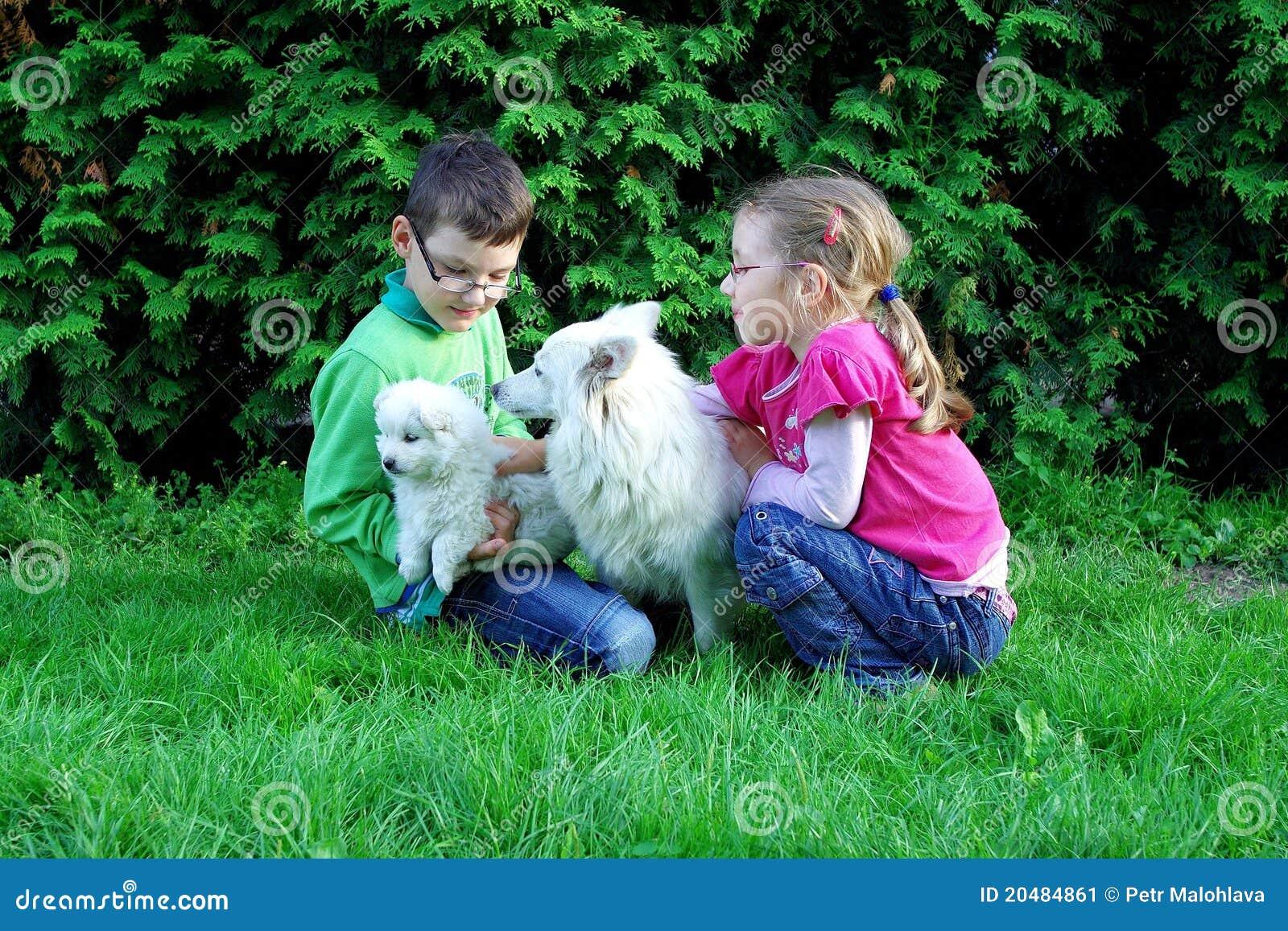 Crianças com cães