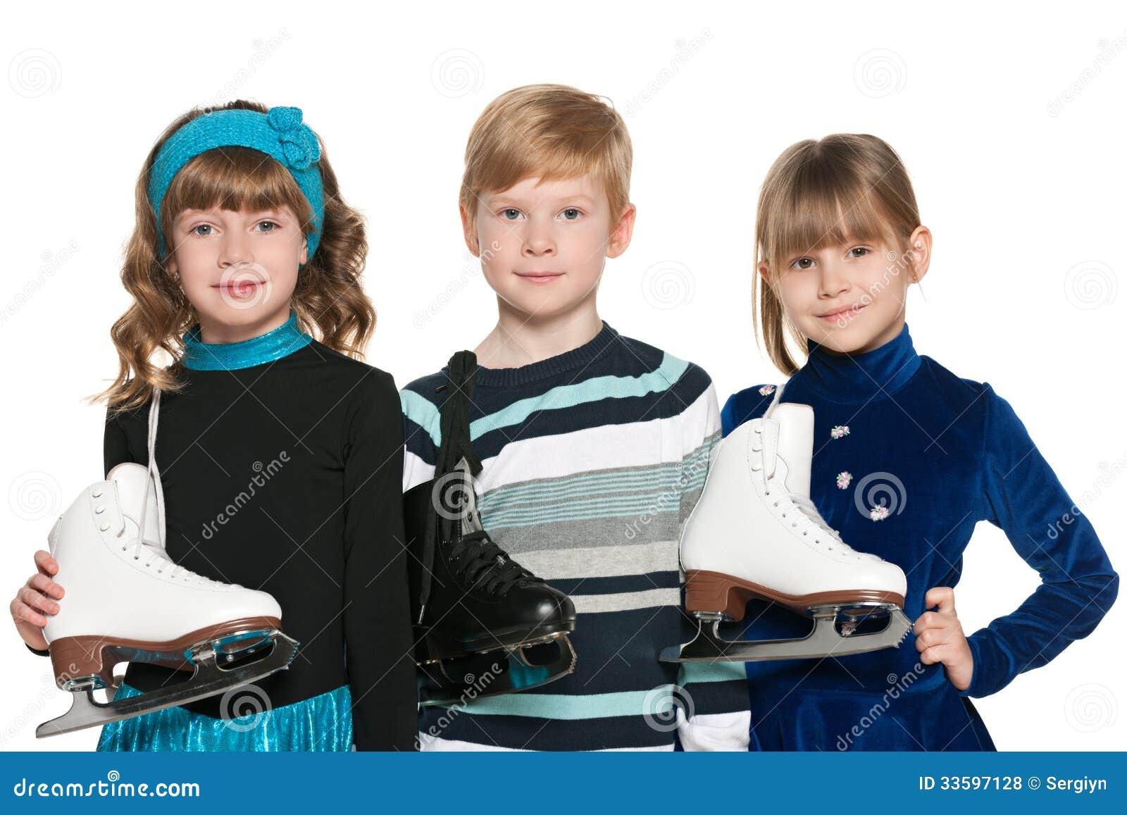 Crianças com patins