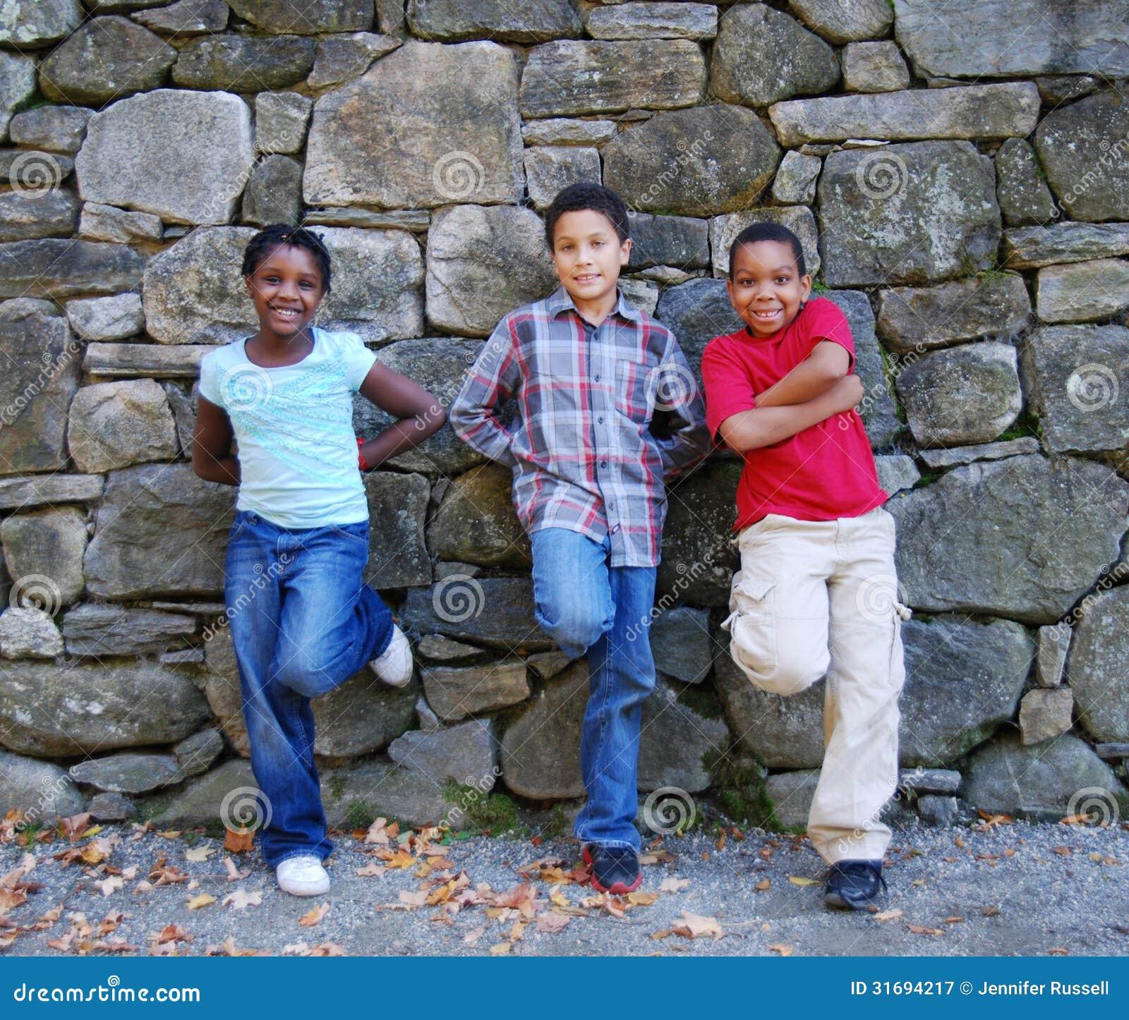 Crianças da cidade da diversidade